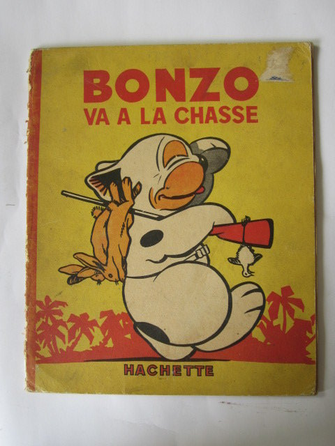 Photo of BONZO VA A LA CHASSE written by Studdy, G.E. illustrated by Studdy, G.E. published by Hachette (STOCK CODE: 1305094)  for sale by Stella & Rose's Books