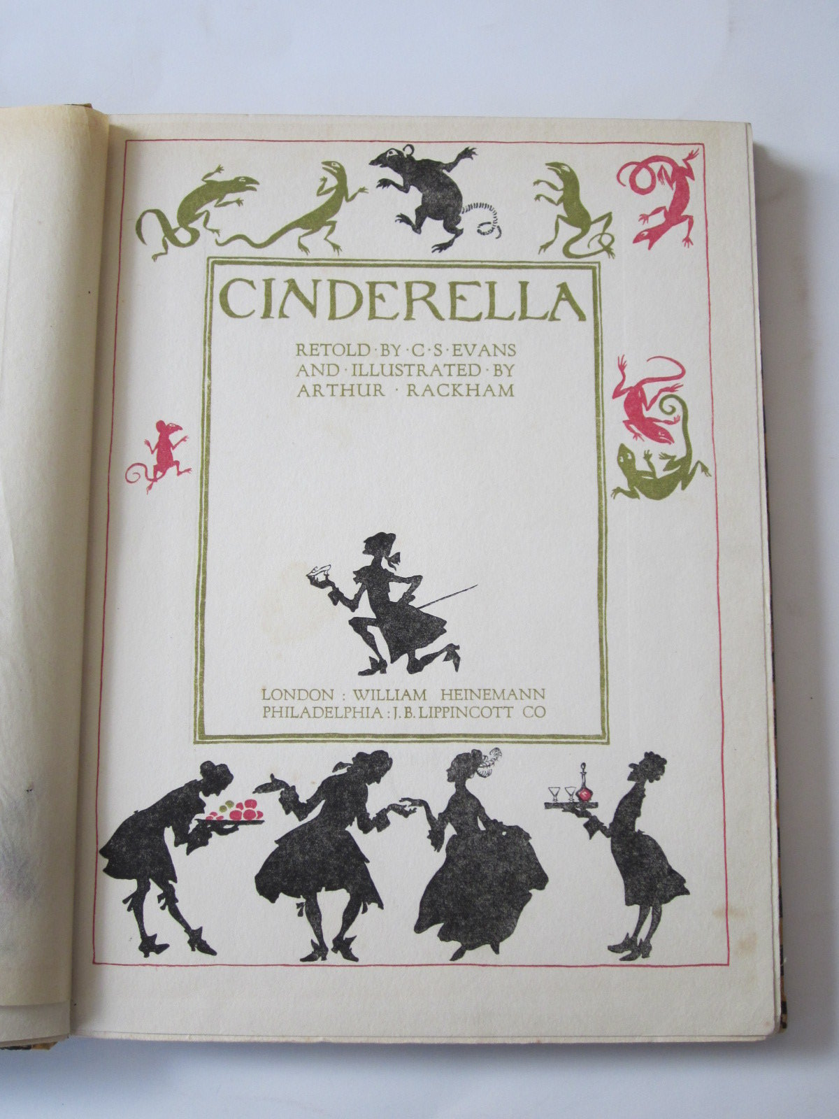 Photo of CINDERELLA written by Evans, C.S. illustrated by Rackham, Arthur published by William Heinemann (STOCK CODE: 1307681)  for sale by Stella & Rose's Books