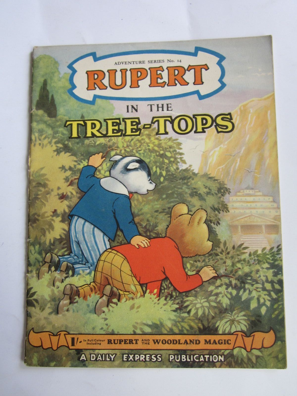 Photo of RUPERT ADVENTURE SERIES No. 14 - RUPERT IN THE TREE TOPS written by Bestall, Alfred illustrated by Bestall, Alfred Cubie, Alex published by Daily Express (STOCK CODE: 1309060)  for sale by Stella & Rose's Books