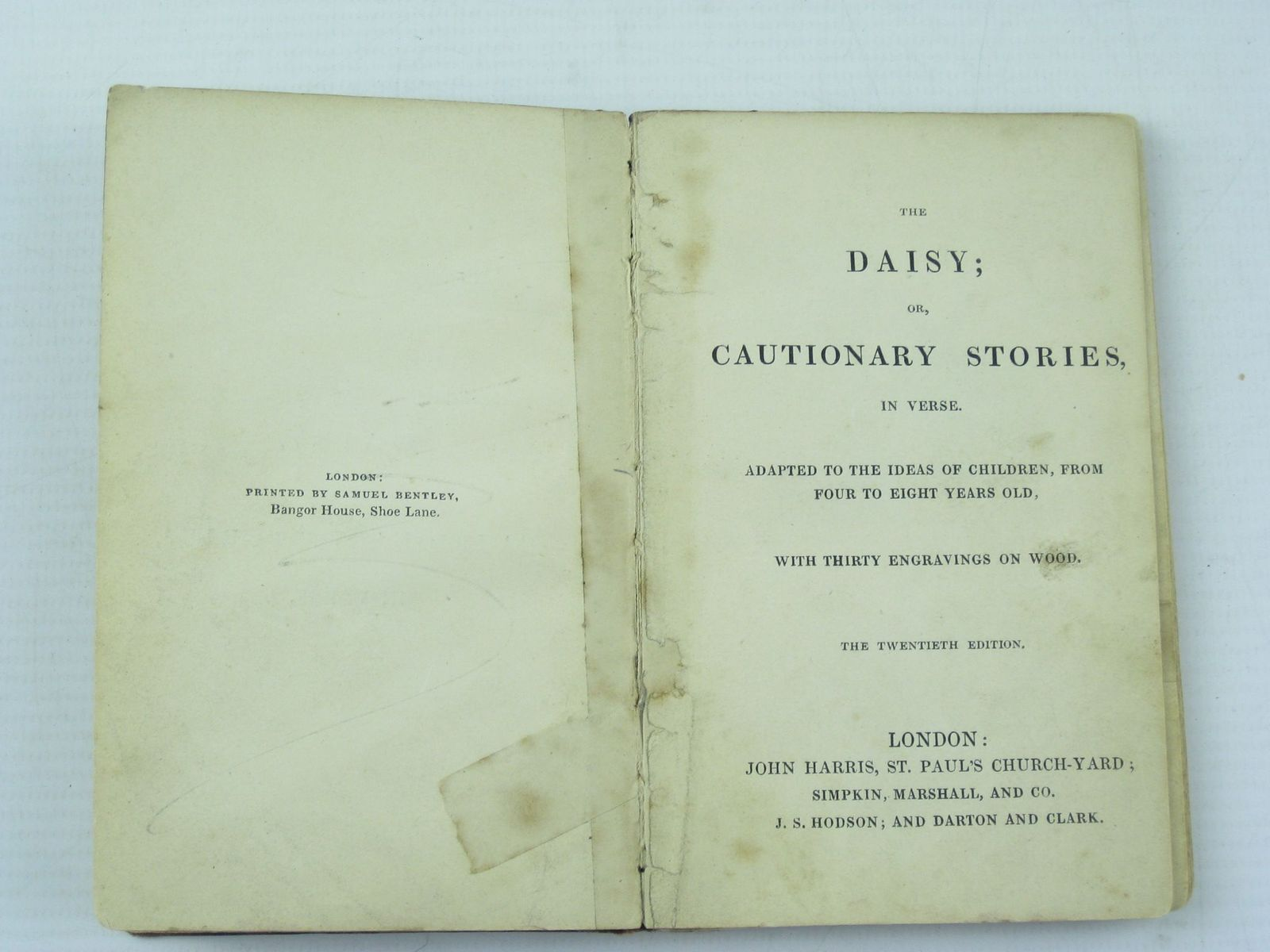 Photo of THE DAISY; OR, CAUTIONARY STORIES IN VERSE published by John Harris (STOCK CODE: 1311585)  for sale by Stella & Rose's Books