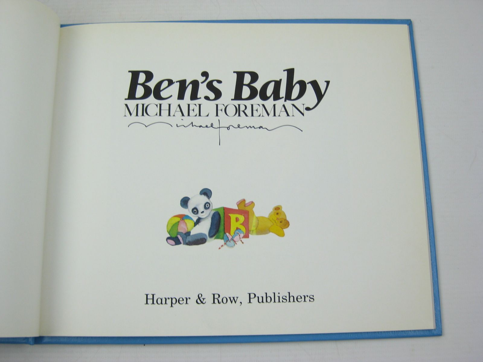 Photo of BEN'S BABY written by Foreman, Michael illustrated by Foreman, Michael published by Harper & Row (STOCK CODE: 1312510)  for sale by Stella & Rose's Books