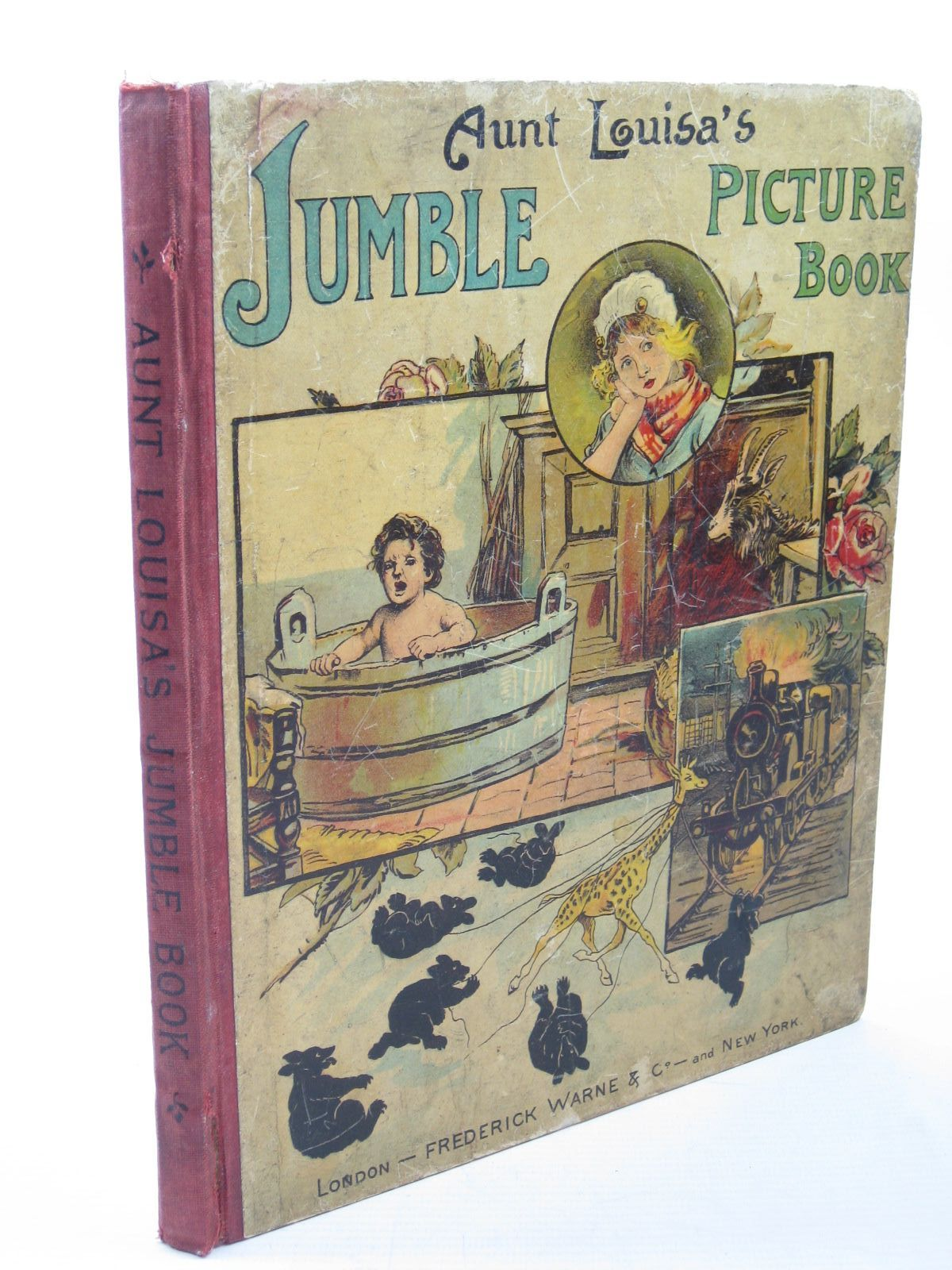Photo of AUNT LOUISA'S JUMBLE PICTURE BOOK written by Aunt Louisa,  illustrated by Wain, Louis Groome, W.H.C. et al., published by Frederick Warne & Co. (STOCK CODE: 1312788)  for sale by Stella & Rose's Books