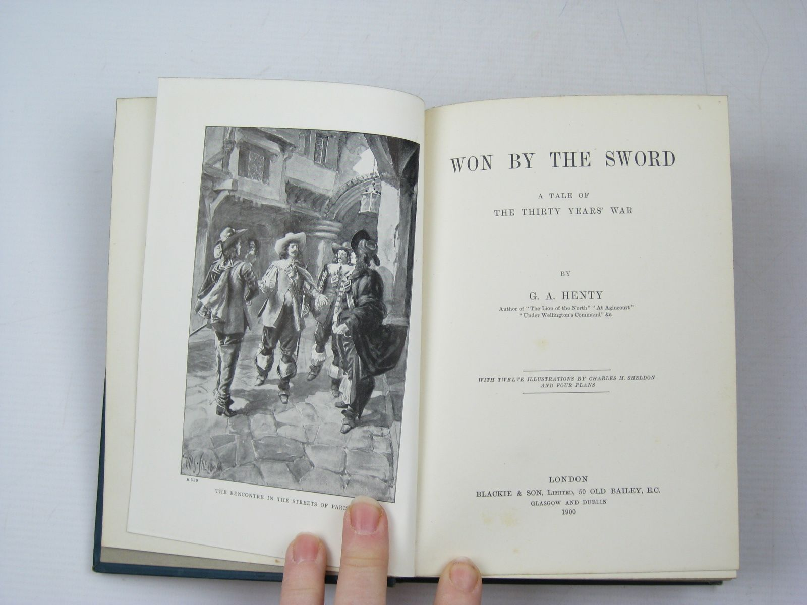 Photo of WON BY THE SWORD written by Henty, G.A. illustrated by Sheldon, Charles M. published by Blackie & Son Ltd. (STOCK CODE: 1313148)  for sale by Stella & Rose's Books
