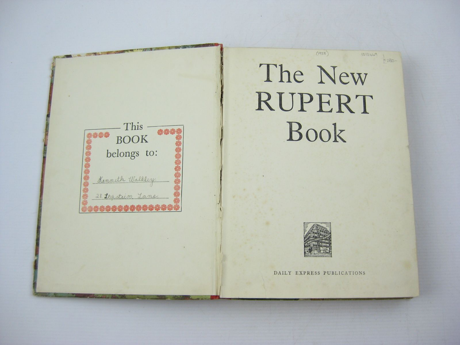 Photo of RUPERT ANNUAL 1938 - THE NEW RUPERT BOOK written by Bestall, Alfred illustrated by Bestall, Alfred published by Daily Express (STOCK CODE: 1313469)  for sale by Stella & Rose's Books