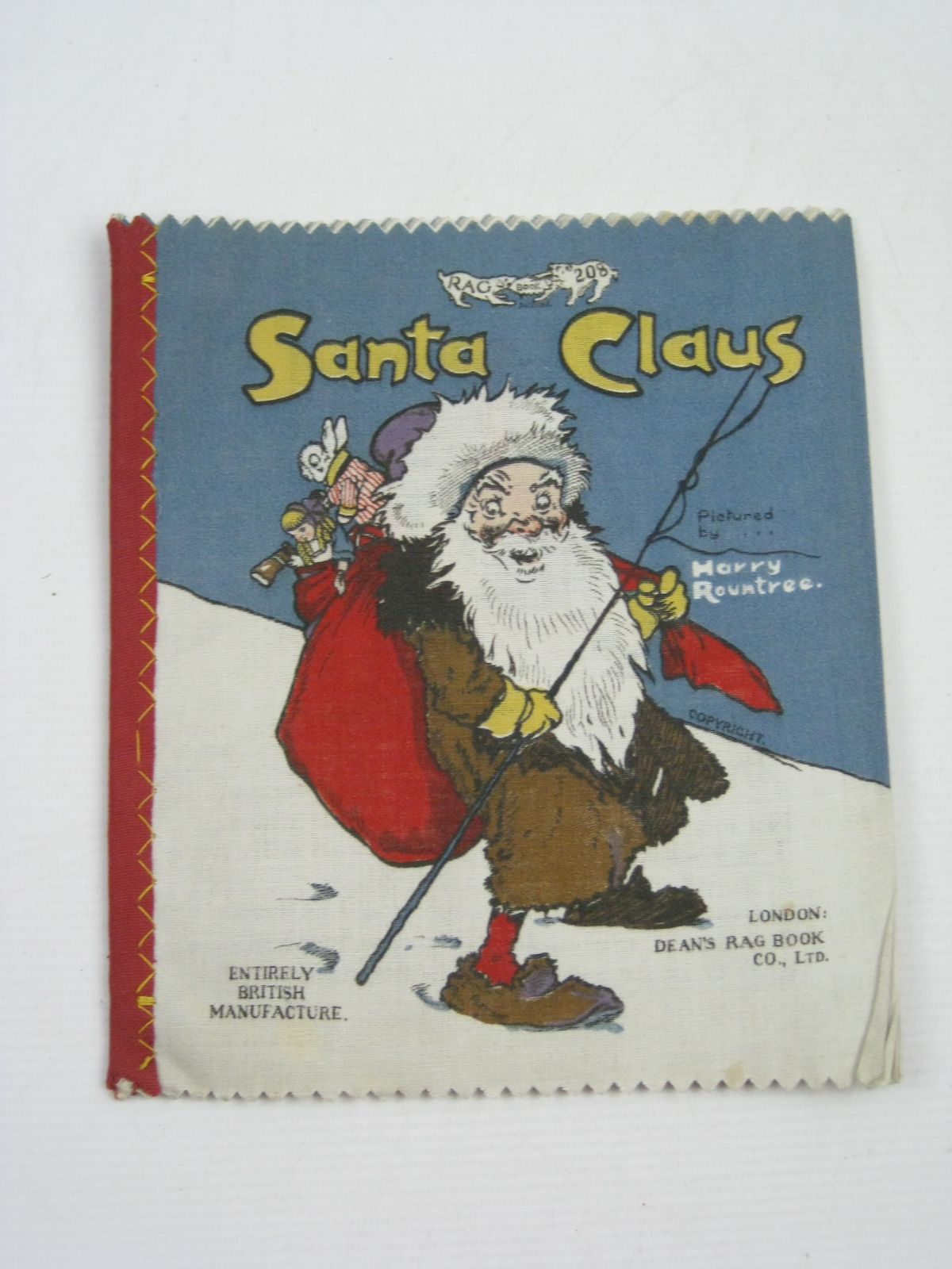 Photo of SANTA CLAUS written by Moore, Clement Clarke illustrated by Rountree, Harry published by Dean's Rag Book Co. Ltd. (STOCK CODE: 1315066)  for sale by Stella & Rose's Books
