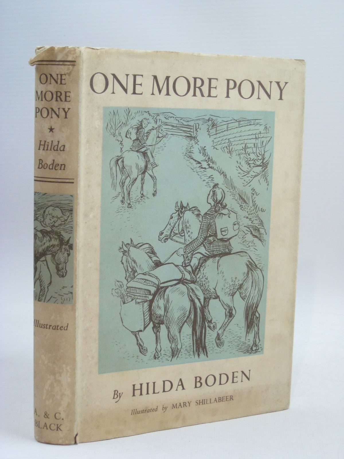 Photo of ONE MORE PONY written by Boden, Hilda illustrated by Shillabeer, Mary published by Adam & Charles Black (STOCK CODE: 1315927)  for sale by Stella & Rose's Books