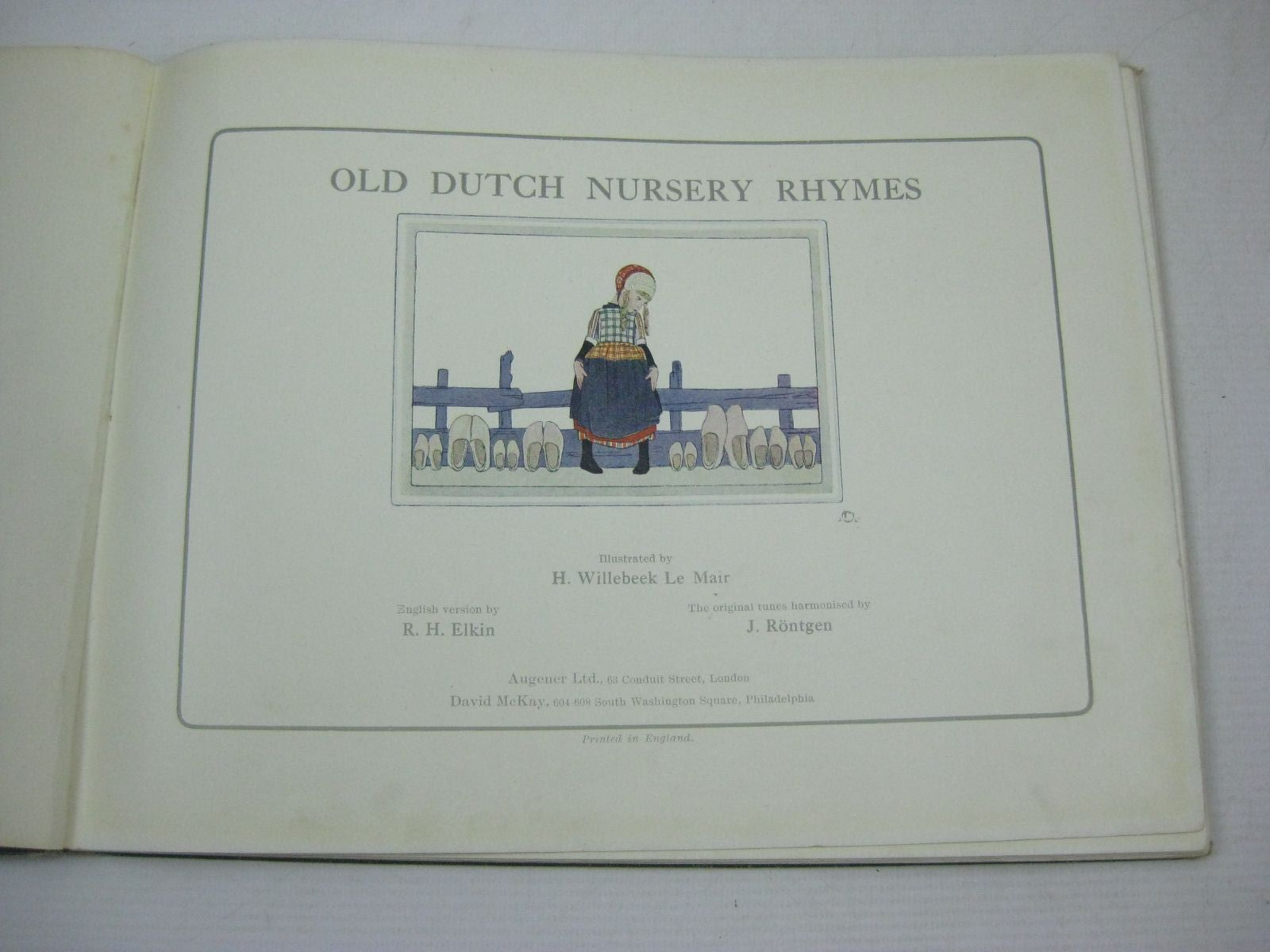 Photo of OLD DUTCH NURSERY RHYMES written by Rontgen, J.