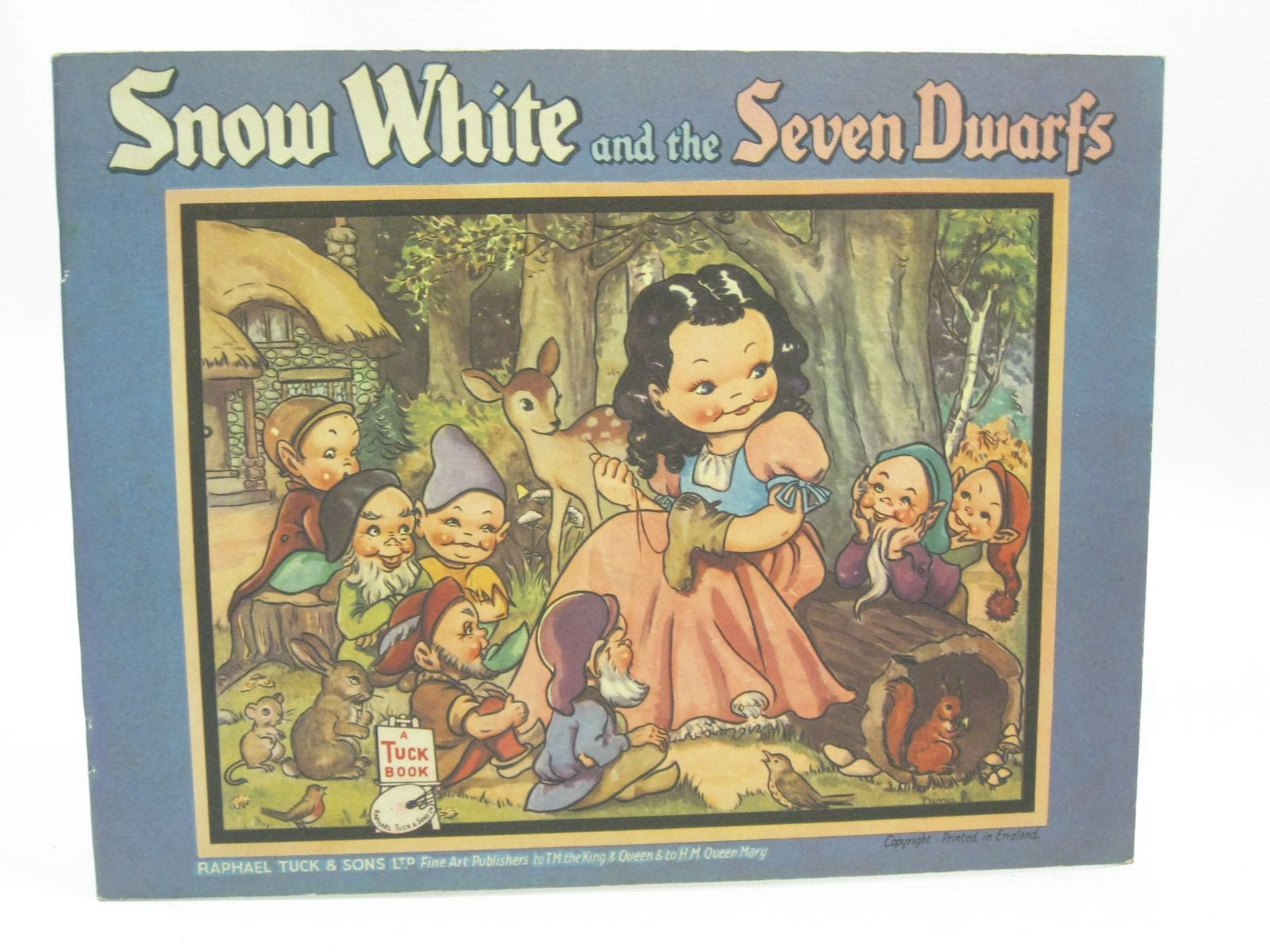 Photo of SNOW WHITE AND THE SEVEN DWARFS illustrated by Dinah,  published by Raphael Tuck & Sons Ltd. (STOCK CODE: 1316202)  for sale by Stella & Rose's Books
