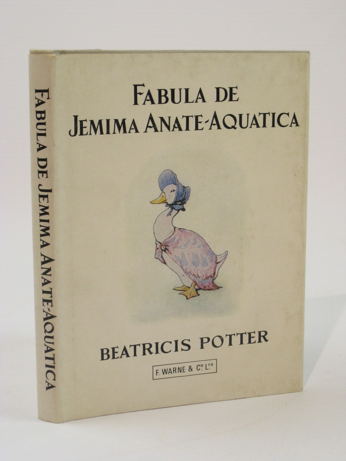 Photo of FABULA DE JEMIMA ANATE-AQUATICA written by Potter, Beatrix Musgrave, Jonathan illustrated by Potter, Beatrix published by Frederick Warne & Co Ltd. (STOCK CODE: 1316770)  for sale by Stella & Rose's Books