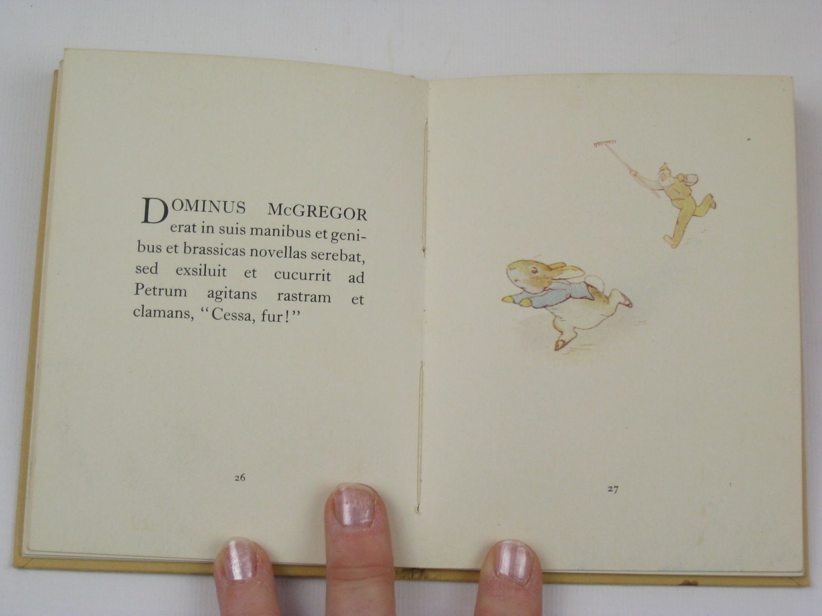 Photo of FABULA PETRO CUNICULO written by Potter, Beatrix Walkeri, E. Perotis illustrated by Potter, Beatrix published by Frederick Warne & Co Ltd. (STOCK CODE: 1316771)  for sale by Stella & Rose's Books