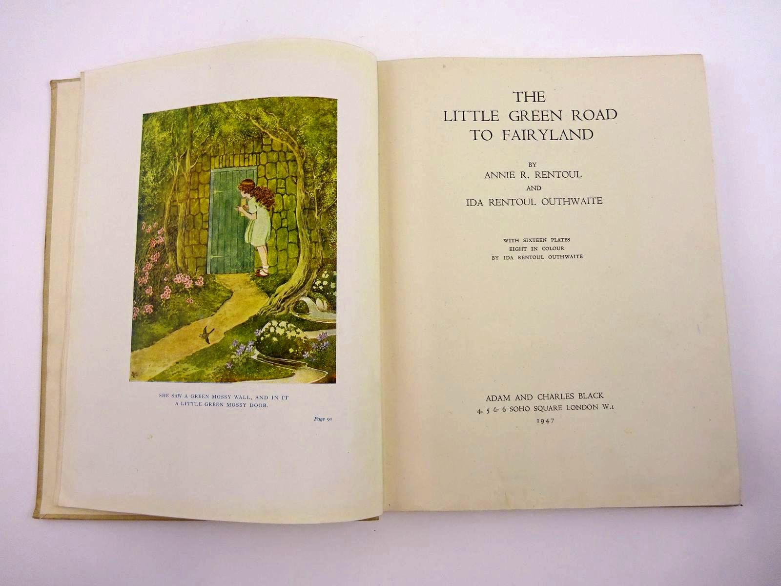 Photo of THE LITTLE GREEN ROAD TO FAIRYLAND written by Rentoul, Annie R. illustrated by Outhwaite, Ida Rentoul published by Adam & Charles Black (STOCK CODE: 1318103)  for sale by Stella & Rose's Books