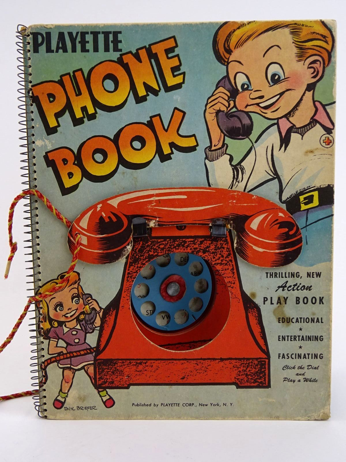 Photo of PLAYETTE PHONE BOOK written by Wise, Larry<br />Goldsmith, M. illustrated by Briefer, Dick published by Playette Corp. (STOCK CODE: 1318330)  for sale by Stella & Rose's Books