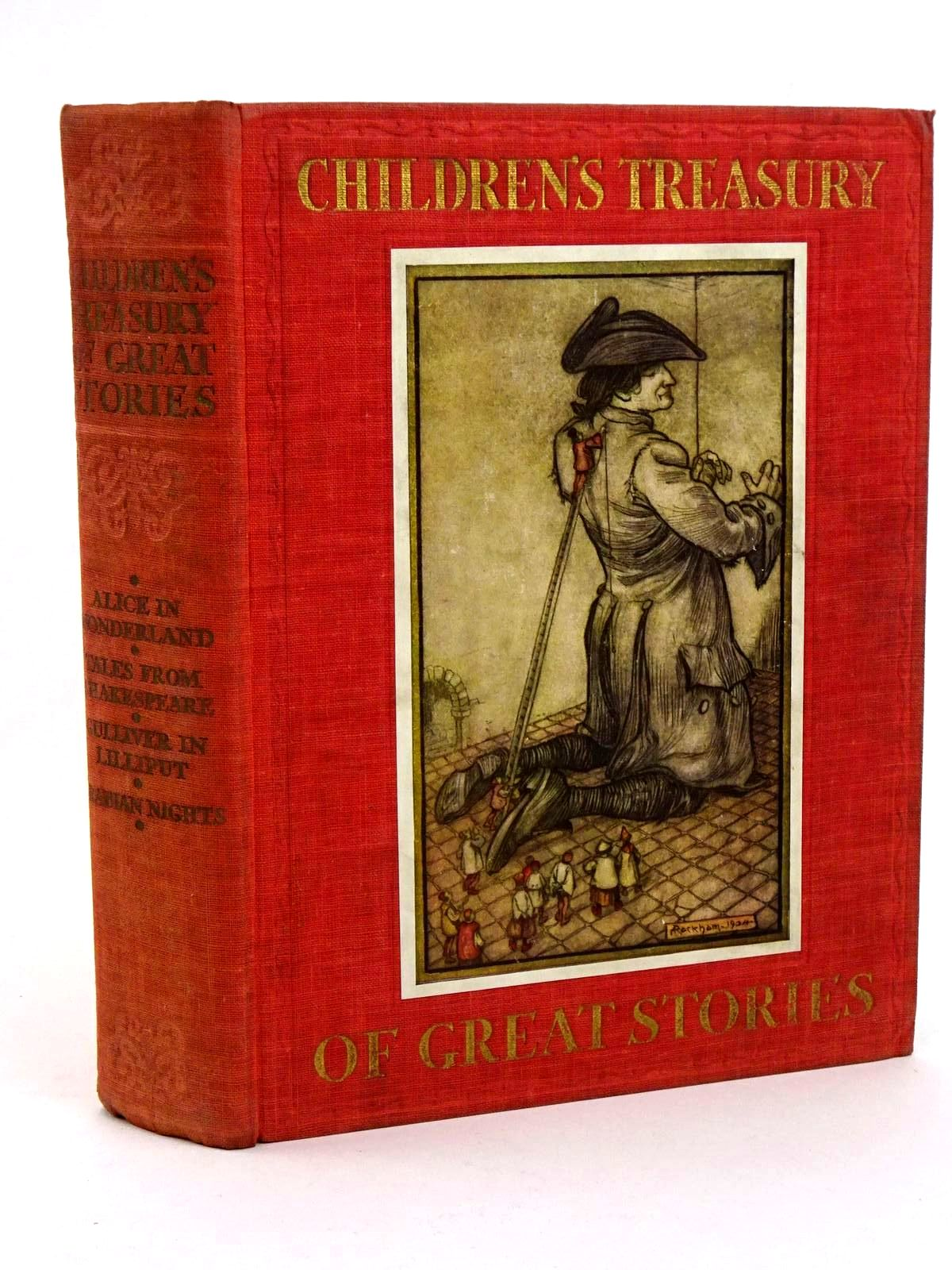 Photo of CHILDREN'S TREASURY OF GREAT STORIES written by Carroll, Lewis<br />Shakespeare, William<br />Swift, Jonathan<br />et al,  illustrated by Rountree, Harry<br />Munro, Helen<br />Rackham, Arthur<br />et al.,  published by Daily Express (STOCK CODE: 1318385)  for sale by Stella & Rose's Books