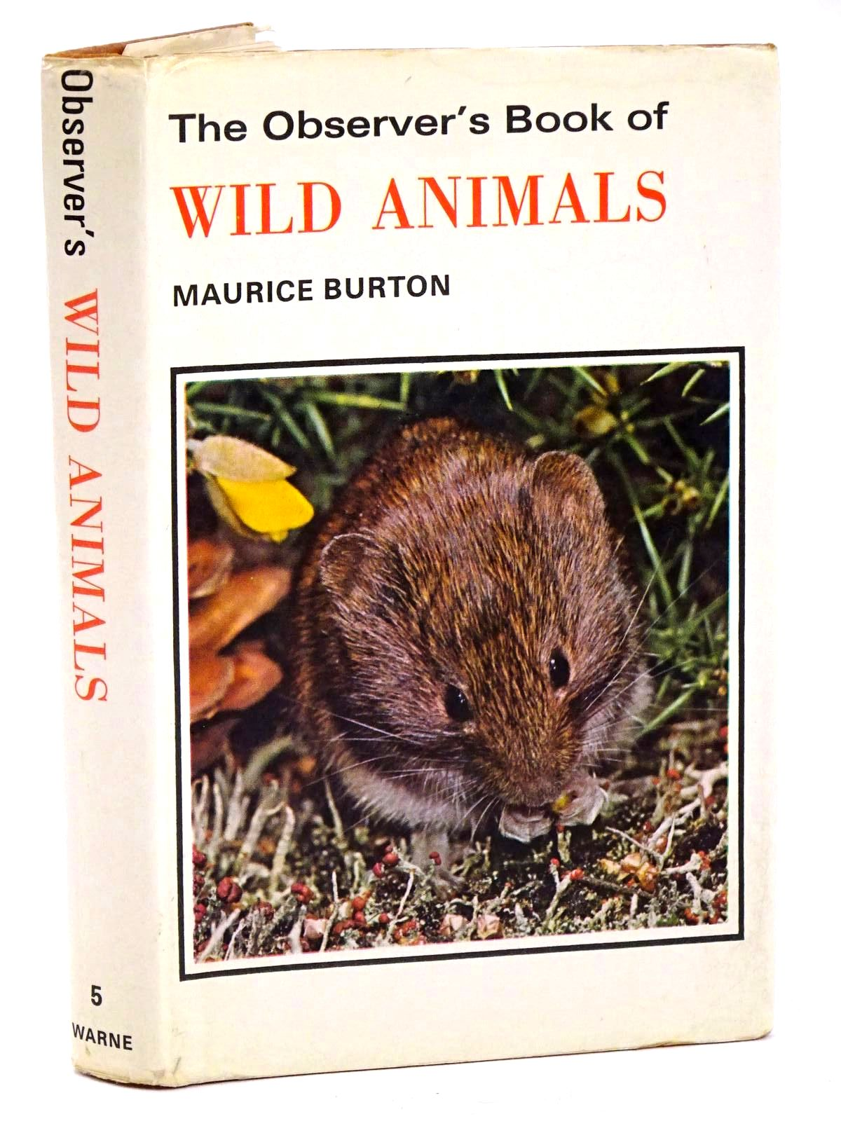 Photo of THE OBSERVER'S BOOK OF WILD ANIMALS written by Burton, Maurice published by Frederick Warne & Co Ltd. (STOCK CODE: 1318407)  for sale by Stella & Rose's Books