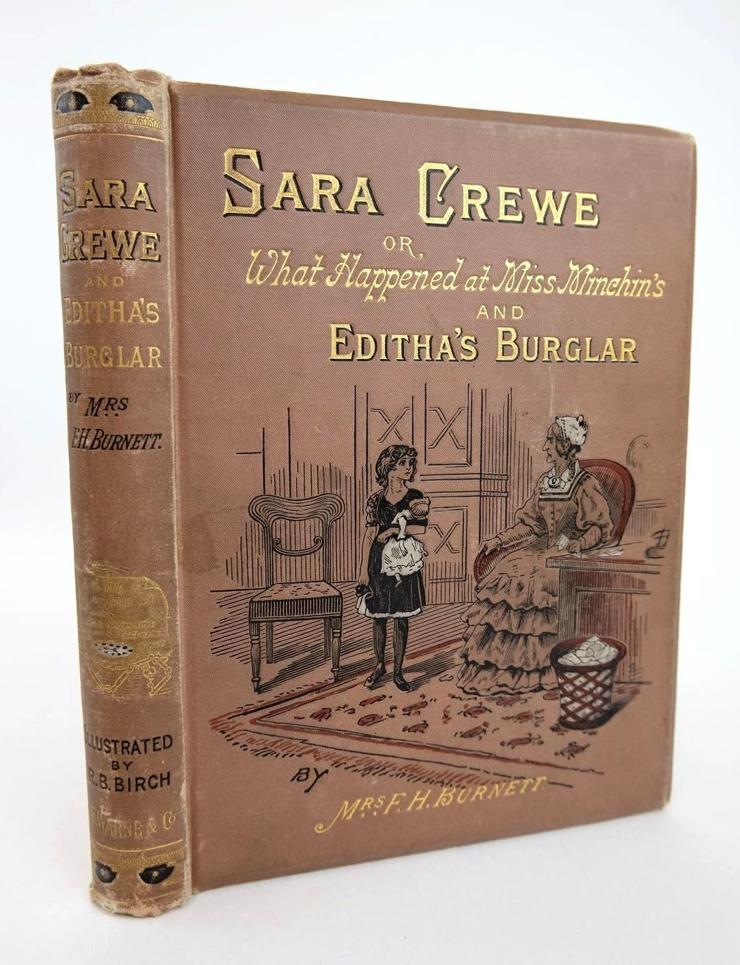 Photo of SARA CREWE AND EDITHA'S BURGLAR written by Burnett, Frances Hodgson illustrated by Birch, Reginald B. published by Frederick Warne & Co. (STOCK CODE: 1318616)  for sale by Stella & Rose's Books