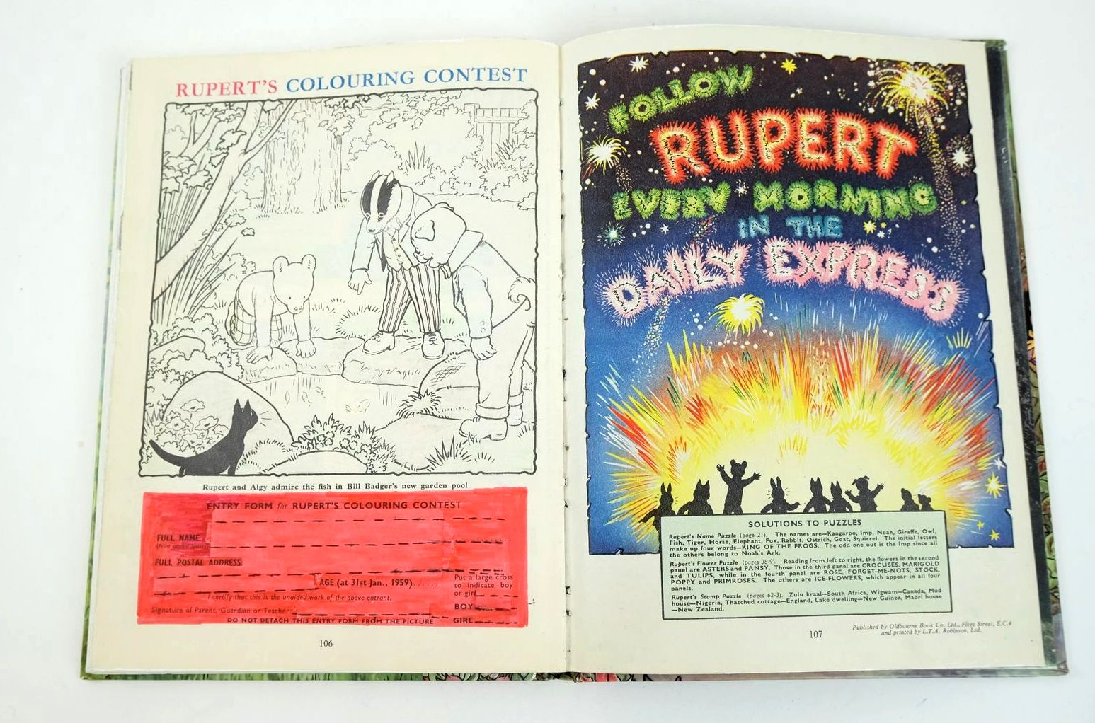 Photo of RUPERT ANNUAL 1958 written by Bestall, Alfred illustrated by Bestall, Alfred published by Daily Express (STOCK CODE: 1318671)  for sale by Stella & Rose's Books