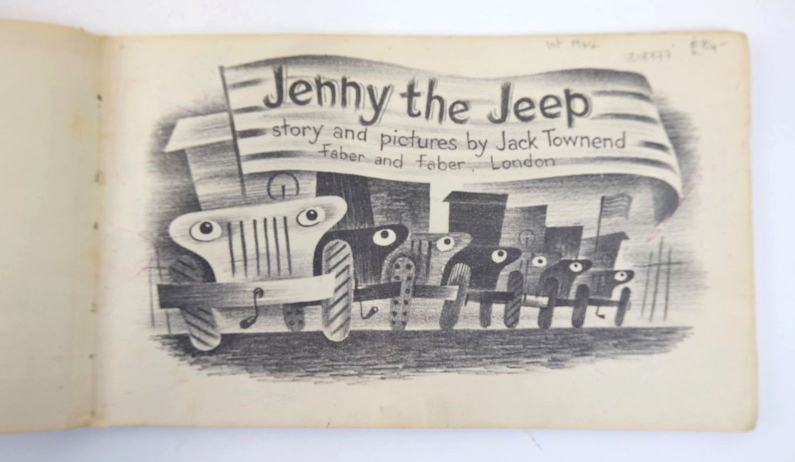 Photo of JENNY THE JEEP written by Townend, Jack illustrated by Townend, Jack published by Faber & Faber Ltd. (STOCK CODE: 1318777)  for sale by Stella & Rose's Books