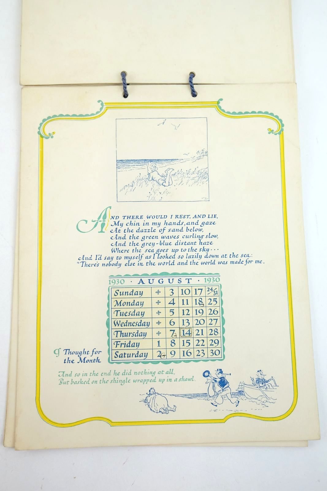 Photo of THE VERY YOUNG CALENDAR 1930 written by Milne, A.A. illustrated by Shepard, E.H. published by Methuen & Co. Ltd. (STOCK CODE: 1319131)  for sale by Stella & Rose's Books