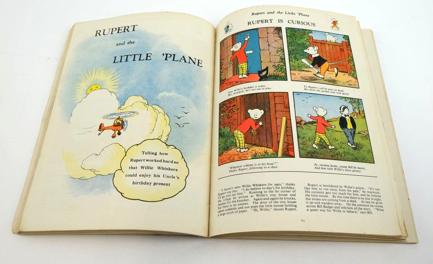 Photo of RUPERT ANNUAL 1942 - MORE ADVENTURES OF RUPERT written by Bestall, Alfred illustrated by Bestall, Alfred published by Daily Express (STOCK CODE: 1319509)  for sale by Stella & Rose's Books