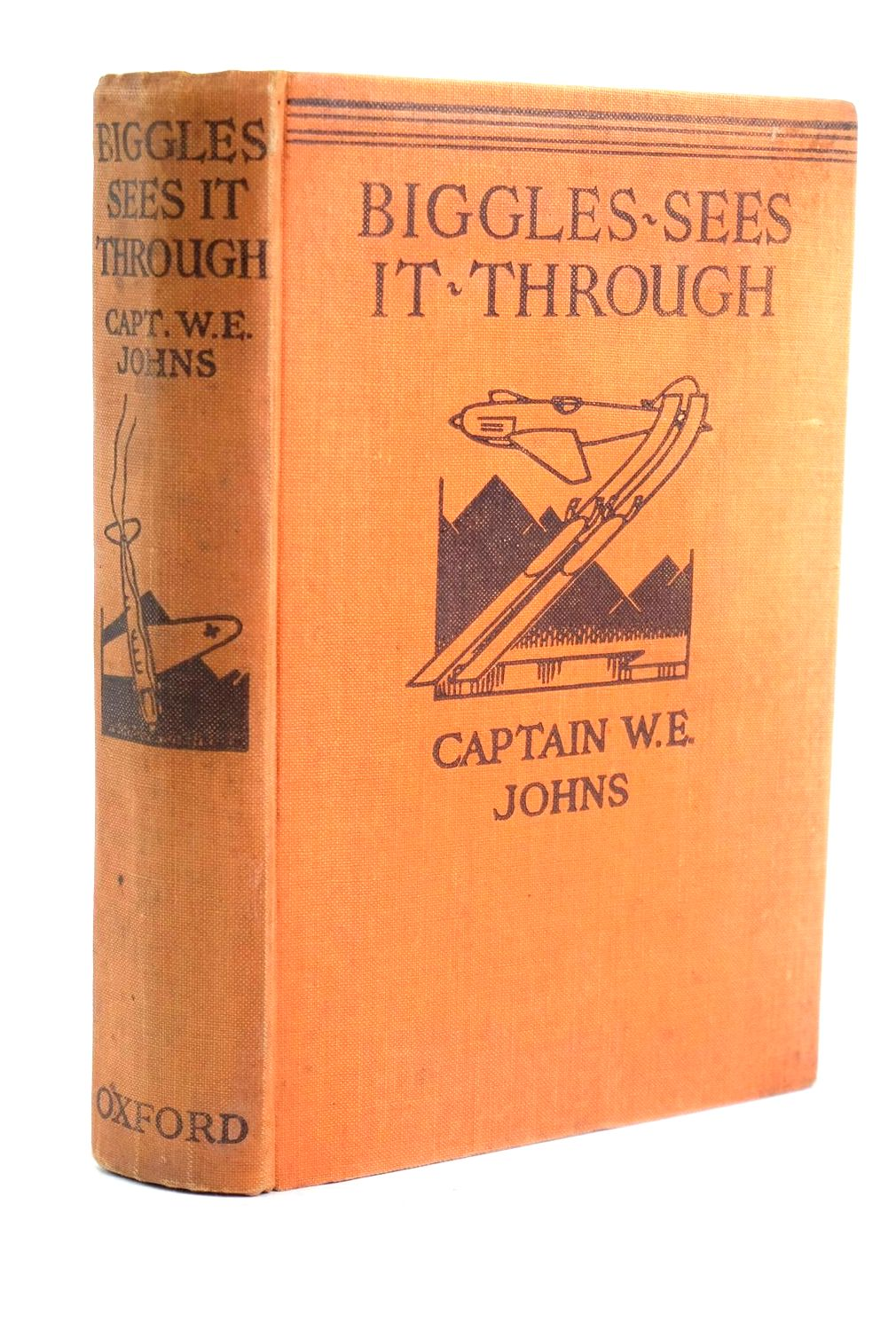 Photo of BIGGLES SEES IT THROUGH written by Johns, W.E. illustrated by Leigh, Howard Sindall, Alfred published by Oxford University Press (STOCK CODE: 1319750)  for sale by Stella & Rose's Books