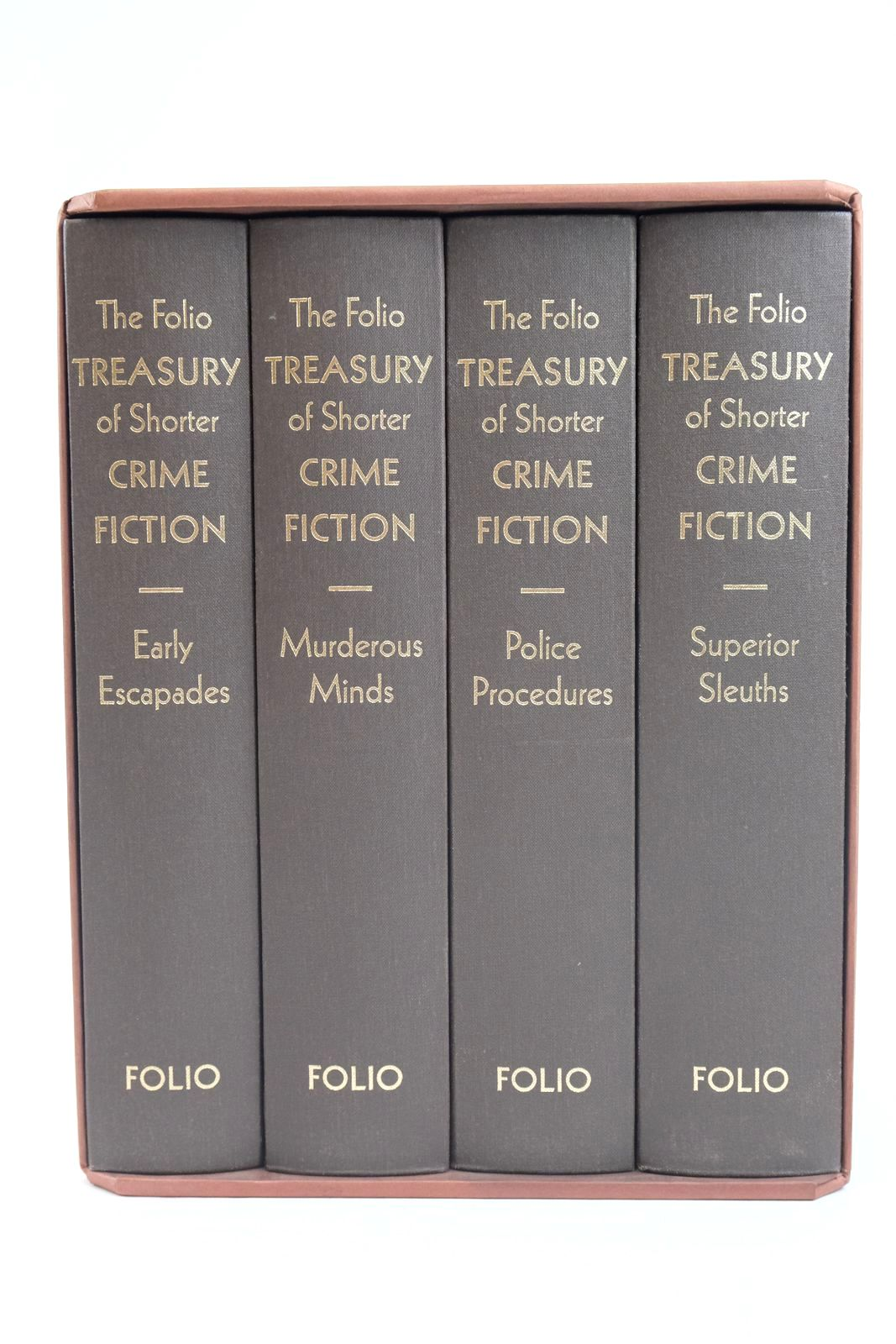 Photo of THE FOLIO TREASURY OF SHORTER CRIME FICTION (4 VOLUMES) written by Heald, Tim Bradbury, Sue illustrated by Hardcastle, Nick published by Folio Society (STOCK CODE: 1320004)  for sale by Stella & Rose's Books