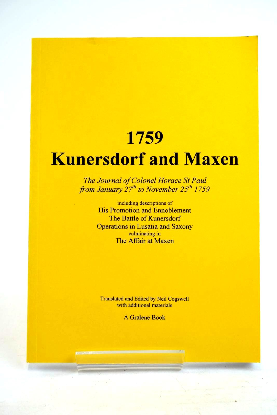 Photo of 1759 KUNERSDORF AND MAXEN written by St Paul, Horace published by Gralene Books (STOCK CODE: 1320197)  for sale by Stella & Rose's Books