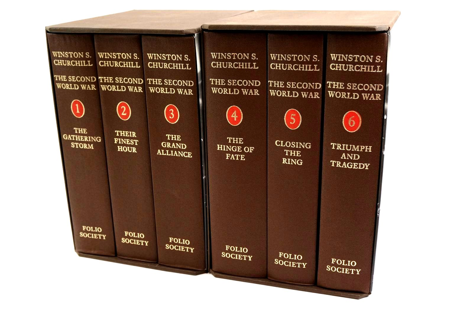Photo of THE SECOND WORLD WAR (6 VOLUMES) written by Churchill, Winston S. published by Folio Society (STOCK CODE: 1320213)  for sale by Stella & Rose's Books