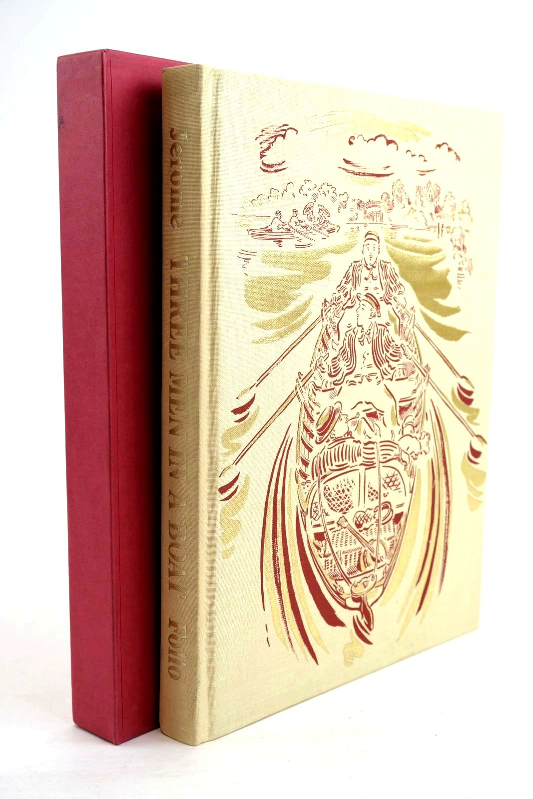 Photo of THREE MEN IN A BOAT written by Jerome, Jerome K. illustrated by Cox, Paul published by Folio Society (STOCK CODE: 1320226)  for sale by Stella & Rose's Books
