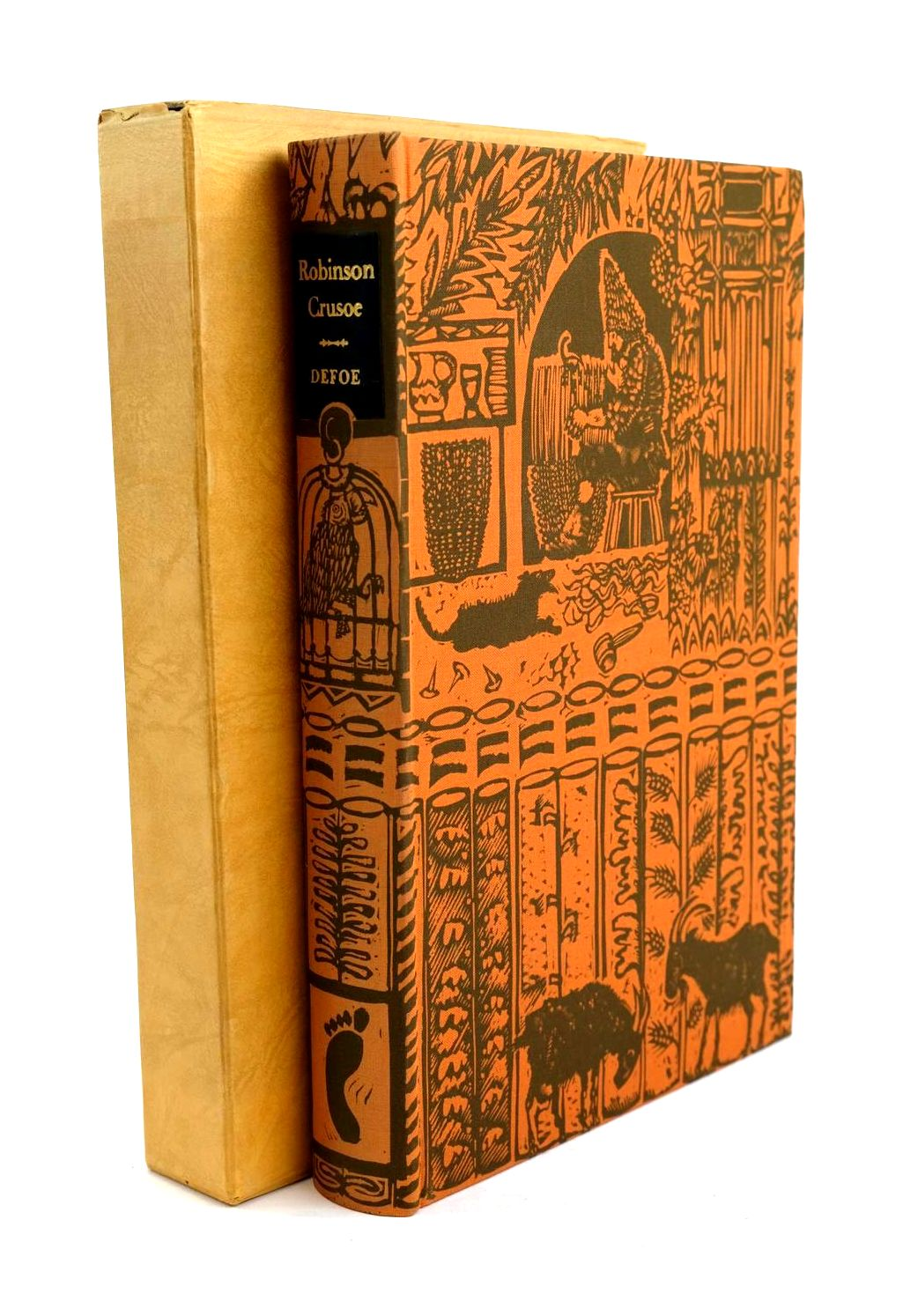 Photo of ROBINSON CRUSOE written by Defoe, Daniel illustrated by Lawrence, John published by Folio Society (STOCK CODE: 1320232)  for sale by Stella & Rose's Books