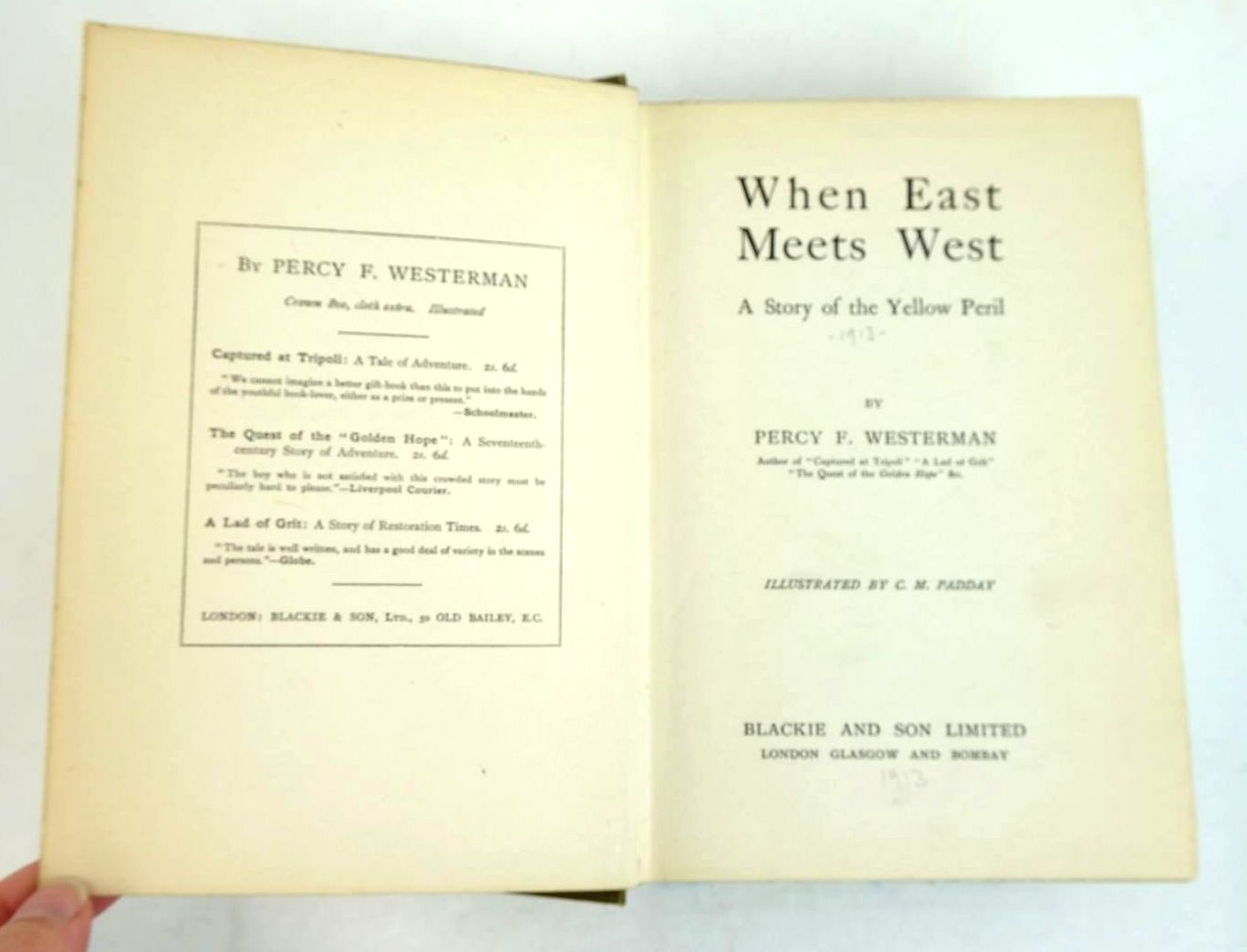 Photo of WHEN EAST MEETS WEST written by Westerman, Percy F. illustrated by Padday, C.M. published by Blackie & Son Ltd. (STOCK CODE: 1320554)  for sale by Stella & Rose's Books