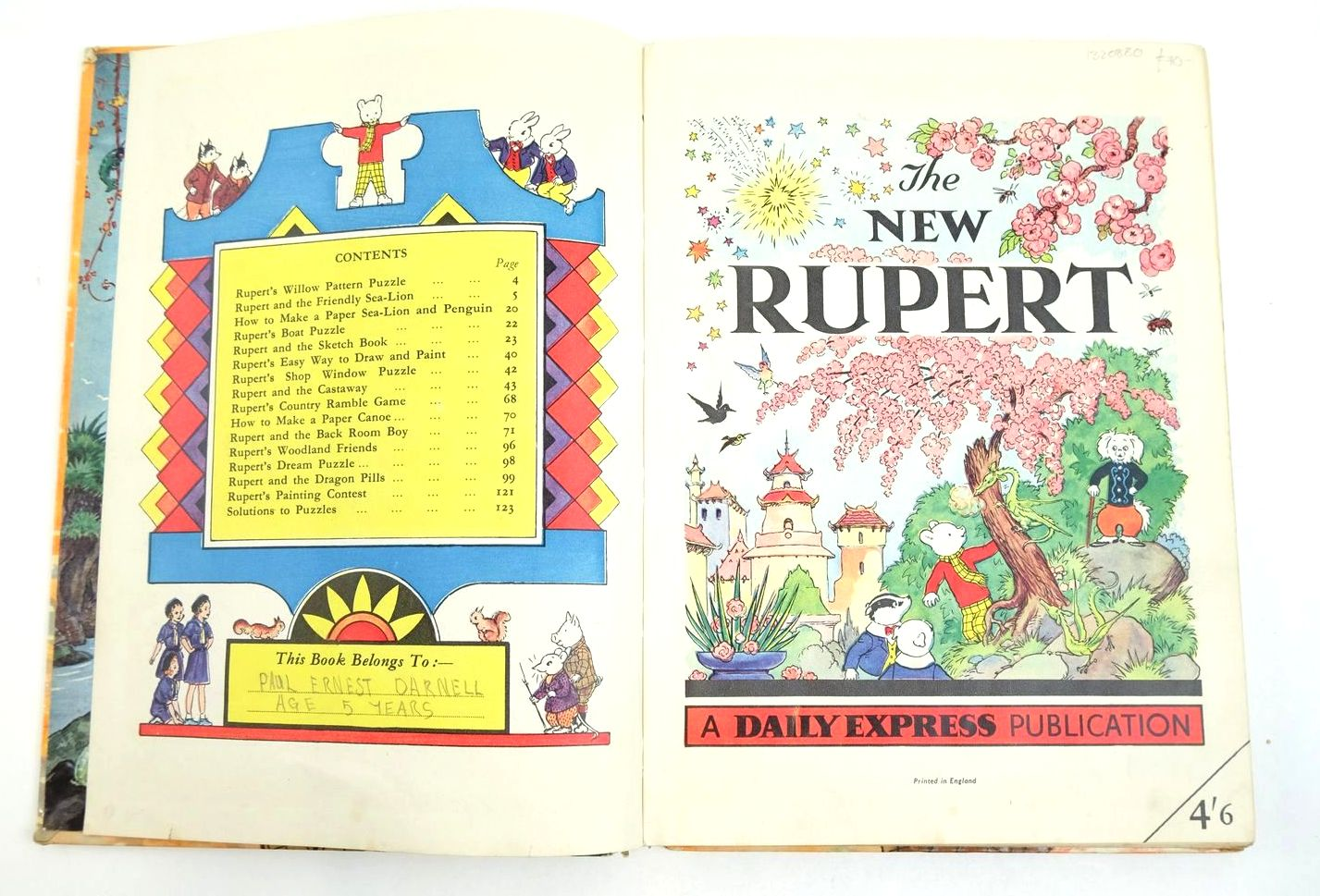 Photo of RUPERT ANNUAL 1954 - THE NEW RUPERT written by Bestall, Alfred illustrated by Bestall, Alfred published by Daily Express (STOCK CODE: 1320800)  for sale by Stella & Rose's Books