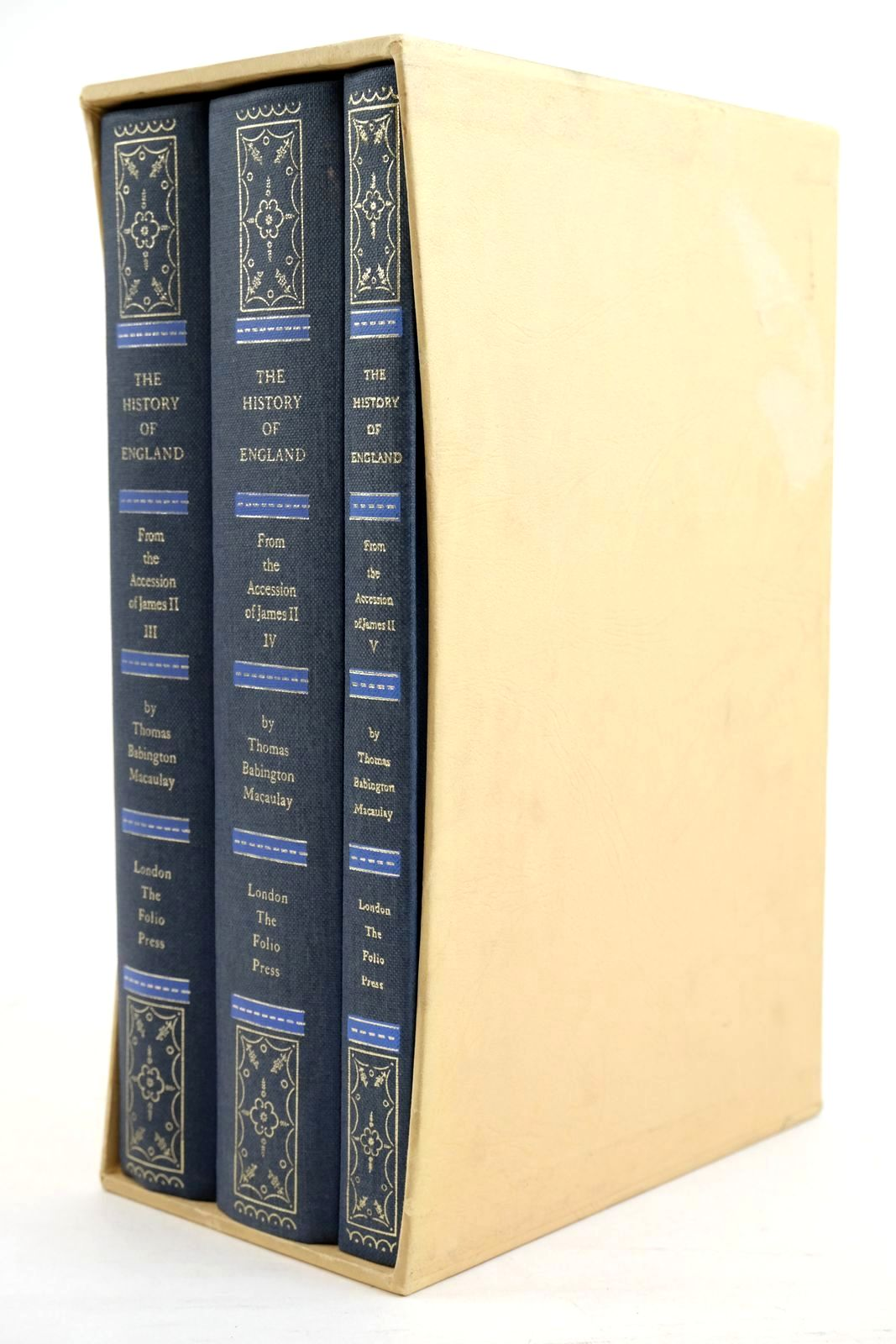 Photo of THE HISTORY OF ENGLAND FROM THE ACCESSION OF JAMES II (THREE VOLUMES) written by Macaulay, Thomas Babington Rowland, Peter published by Folio Society (STOCK CODE: 1320951)  for sale by Stella & Rose's Books
