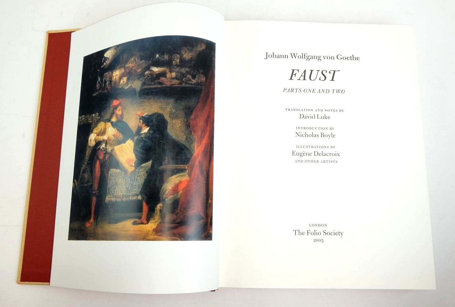Photo of FAUST written by Goethe, Johann Wolfgang Von Luke, David Boyle, Nicholas illustrated by Delacroix, Eugene et al., published by Folio Society (STOCK CODE: 1321037)  for sale by Stella & Rose's Books