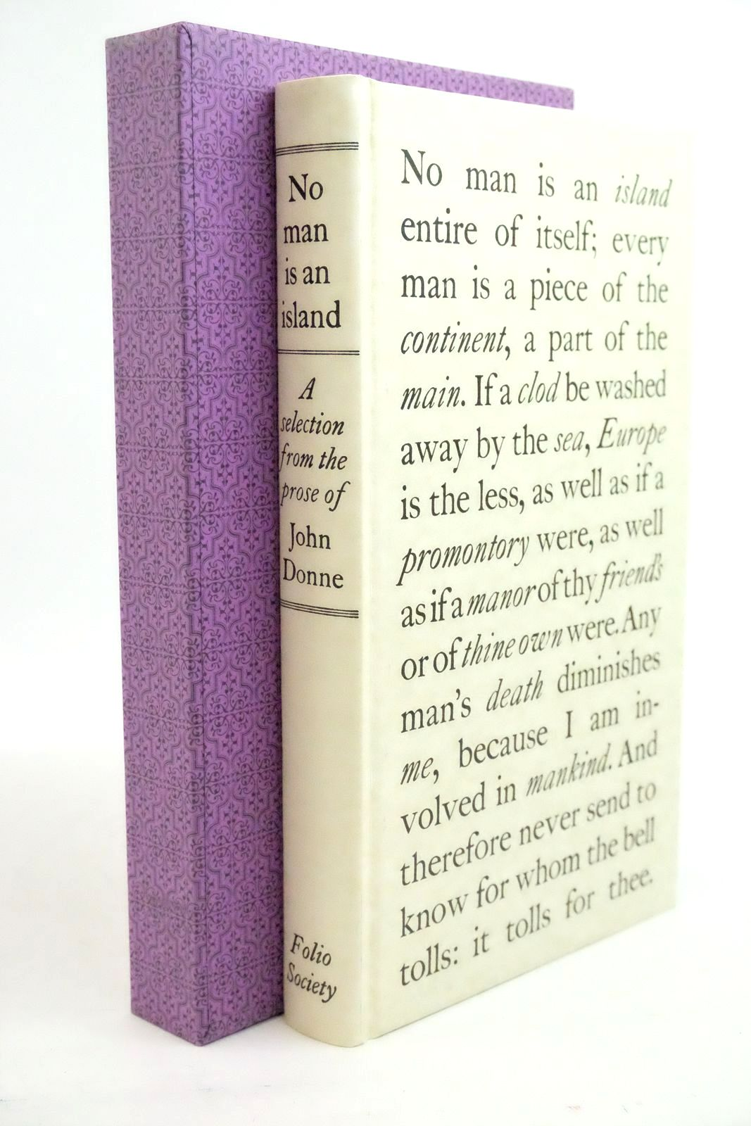 Photo of NO MAN IS AN ISLAND written by Donne, John Scott, Rivers published by Folio Society (STOCK CODE: 1321277)  for sale by Stella & Rose's Books