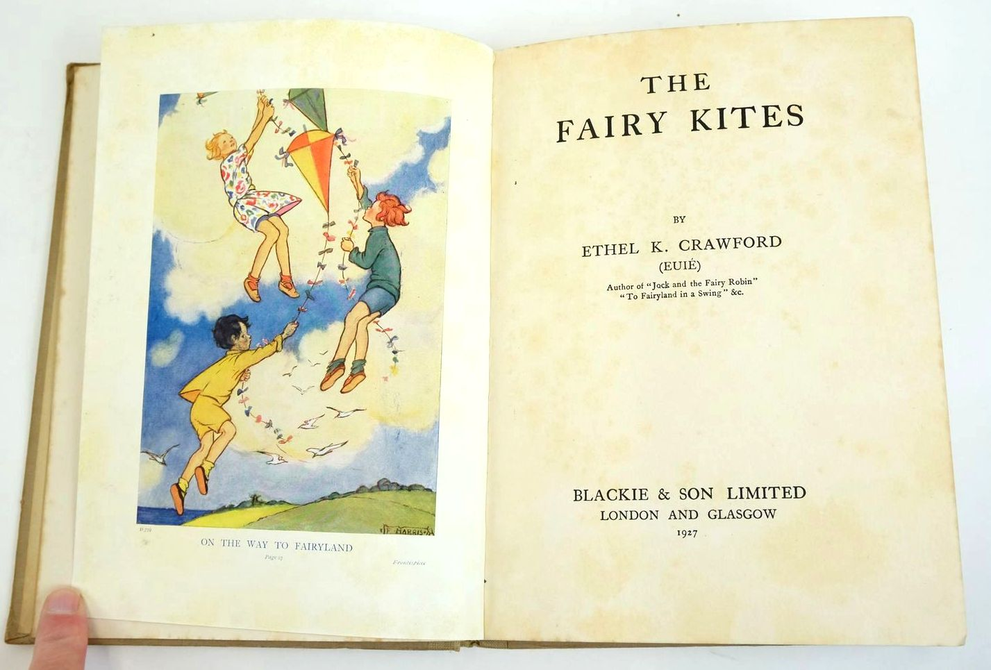 Photo of THE FAIRY KITES written by Crawford, Ethel K. illustrated by Harrison, Florence published by Blackie & Son Ltd. (STOCK CODE: 1321410)  for sale by Stella & Rose's Books