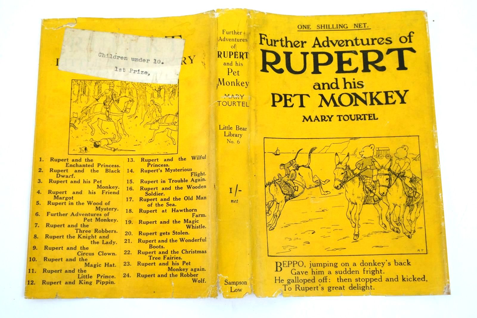 Photo of FURTHER ADVENTURES OF RUPERT AND HIS PET MONKEY - RUPERT LITTLE BEAR LIBRARY No. 6 written by Tourtel, Mary illustrated by Tourtel, Mary published by Sampson Low, Marston & Co. Ltd. (STOCK CODE: 1321657)  for sale by Stella & Rose's Books