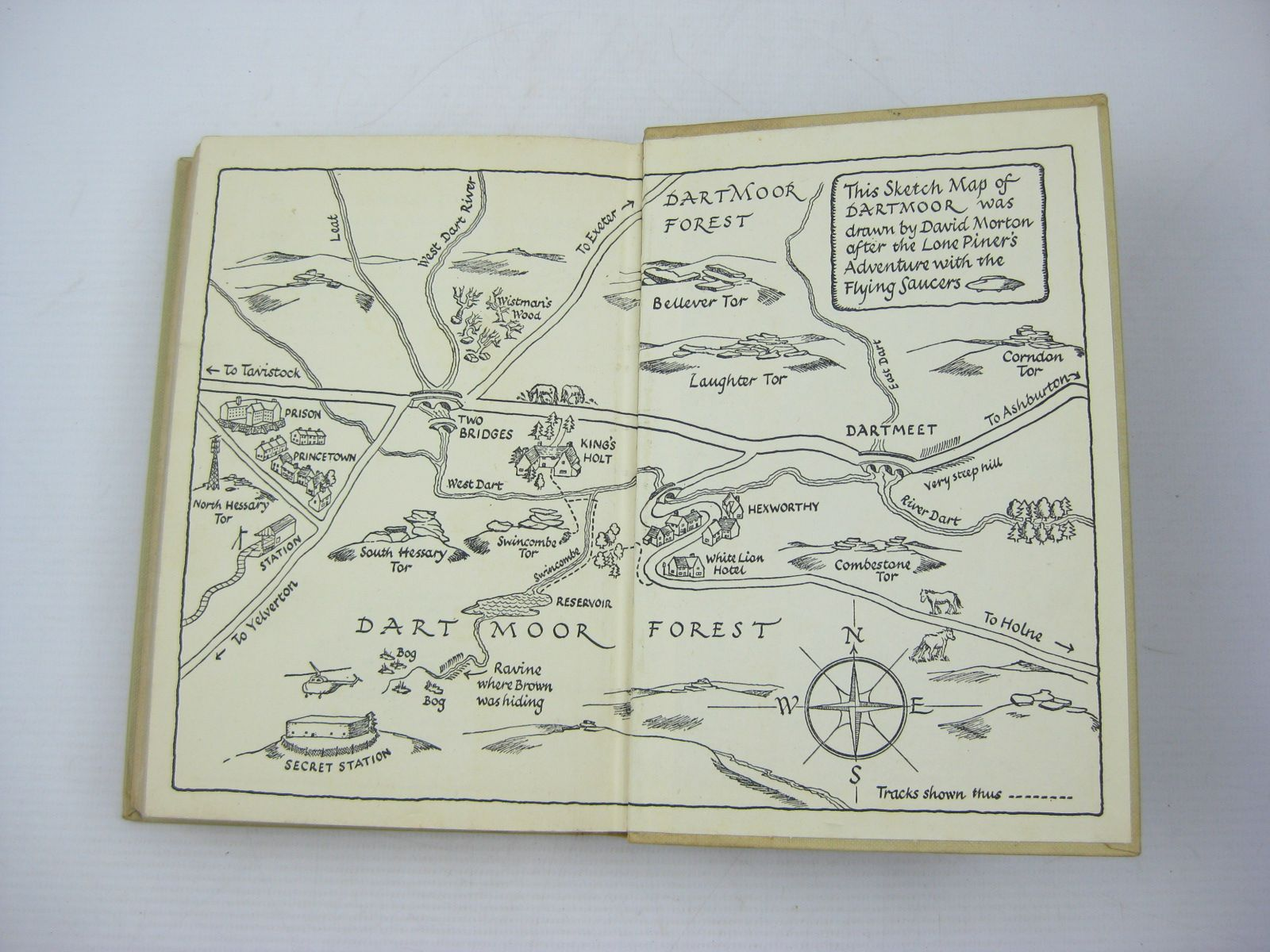 Photo of SAUCERS OVER THE MOOR written by Saville, Malcolm illustrated by Prance, Bertram published by George Newnes Ltd. (STOCK CODE: 1402640)  for sale by Stella & Rose's Books