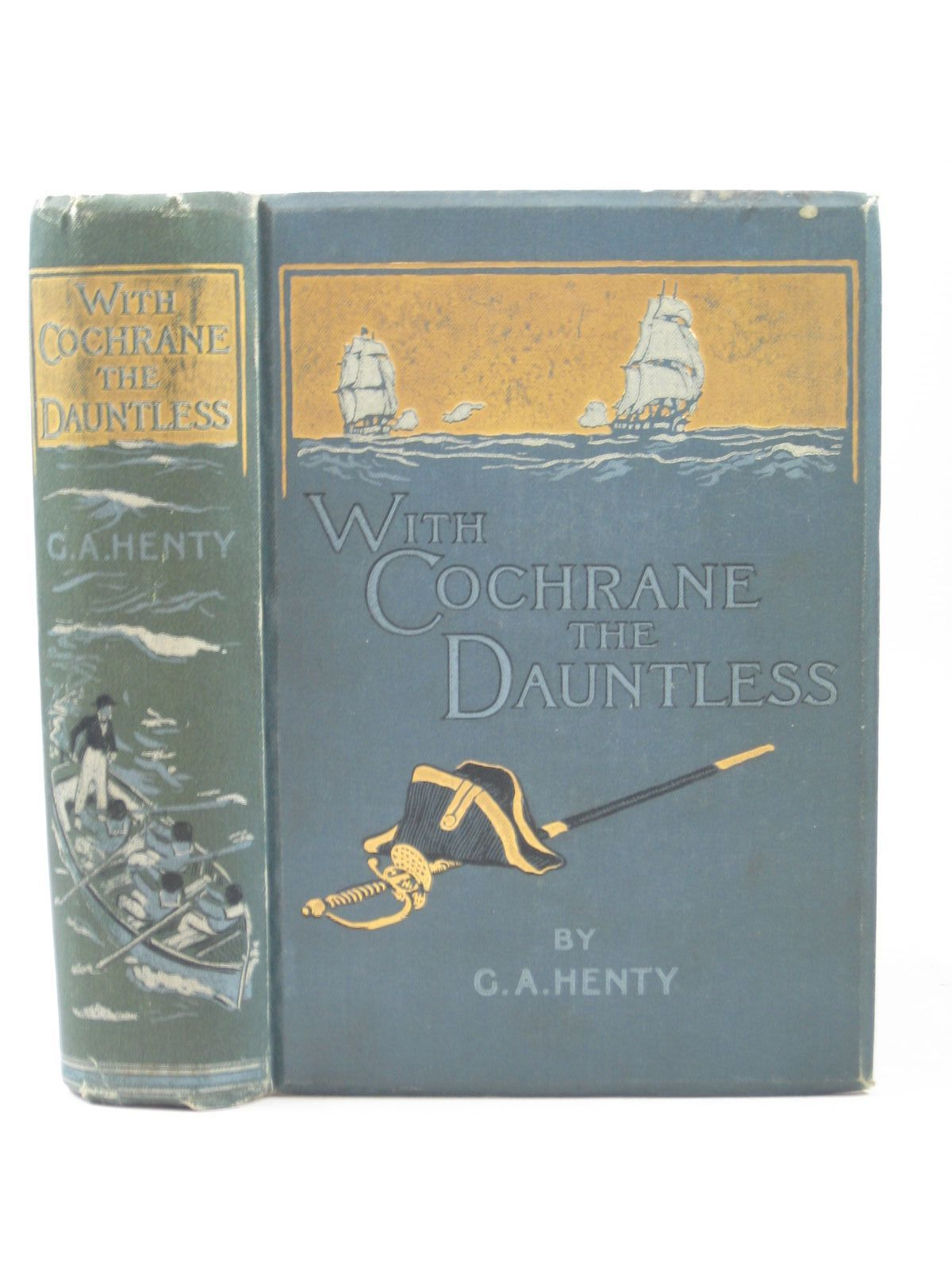Photo of WITH COCHRANE THE DAUNTLESS written by Henty, G.A. illustrated by Margetson, W.H. published by Blackie & Son Ltd. (STOCK CODE: 1403475)  for sale by Stella & Rose's Books