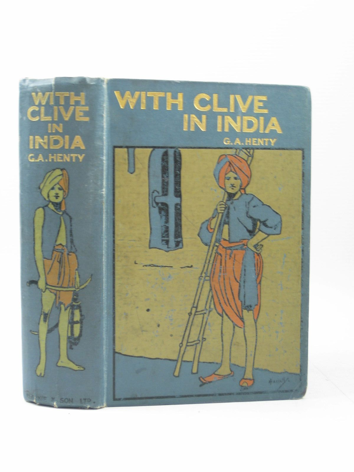 Photo of WITH CLIVE IN INDIA written by Henty, G.A. published by Blackie & Son Ltd. (STOCK CODE: 1403479)  for sale by Stella & Rose's Books