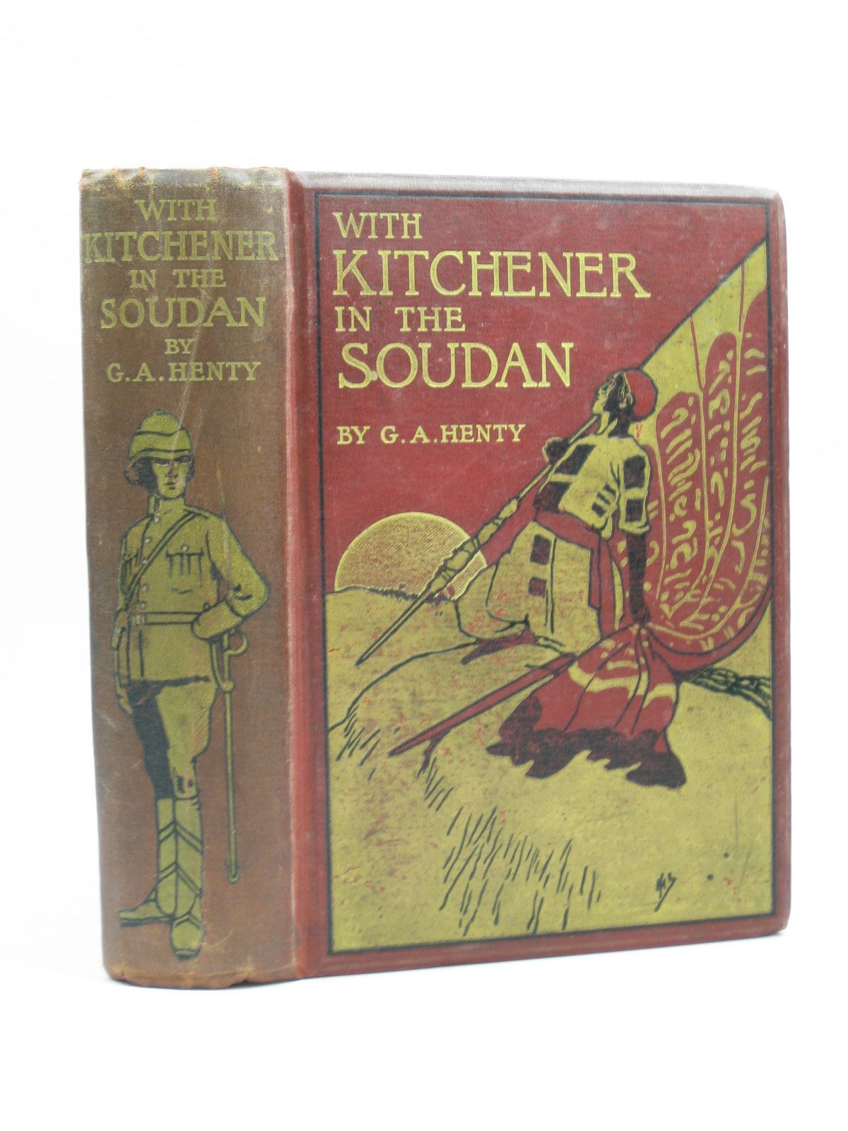 Photo of WITH KITCHENER IN THE SOUDAN written by Henty, G.A. illustrated by Rainey, William published by Blackie & Son Ltd. (STOCK CODE: 1403689)  for sale by Stella & Rose's Books