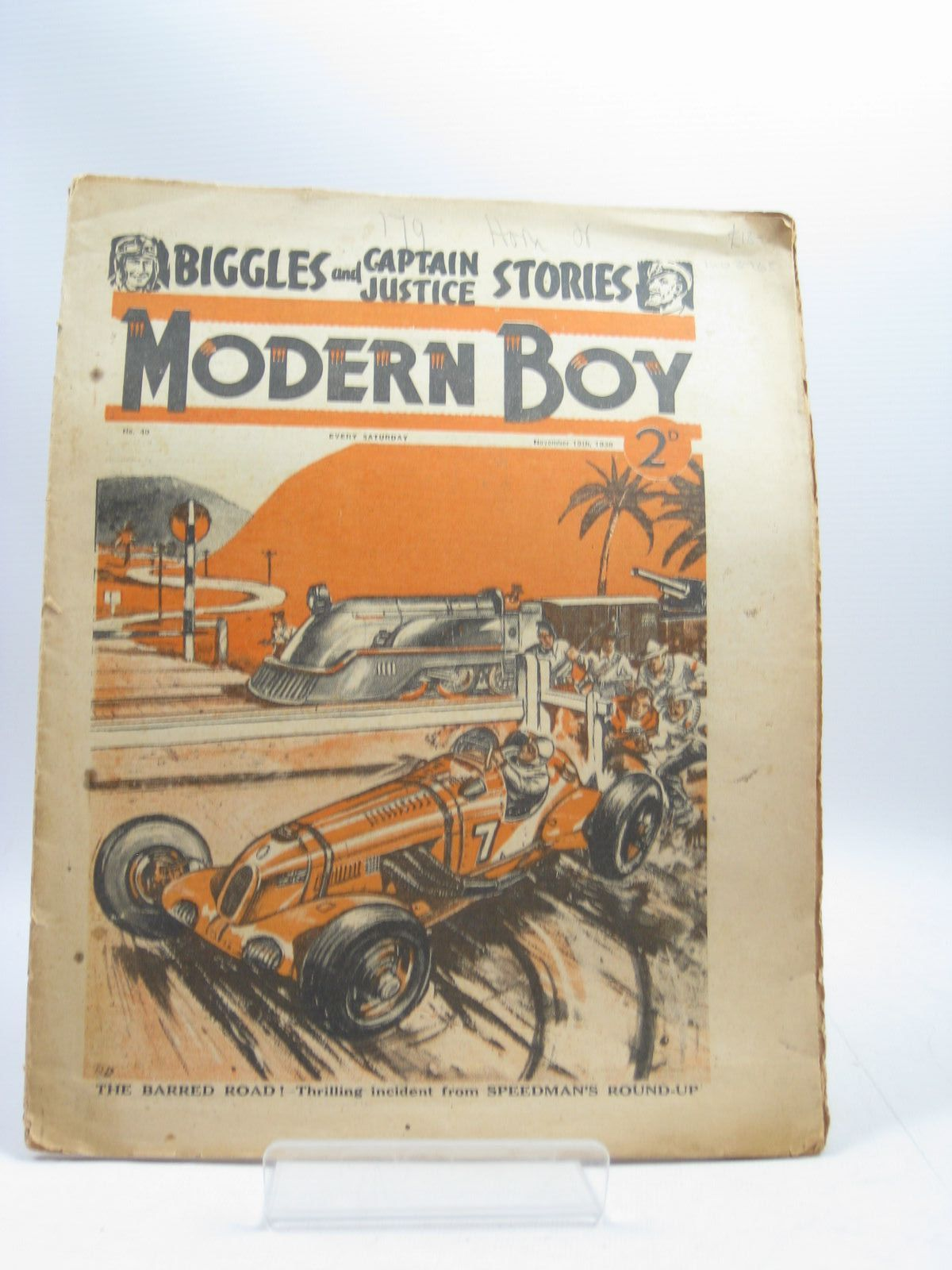 Photo of MODERN BOY No. 40 NOVEMBER 19TH 1938 written by Johns, W.E.