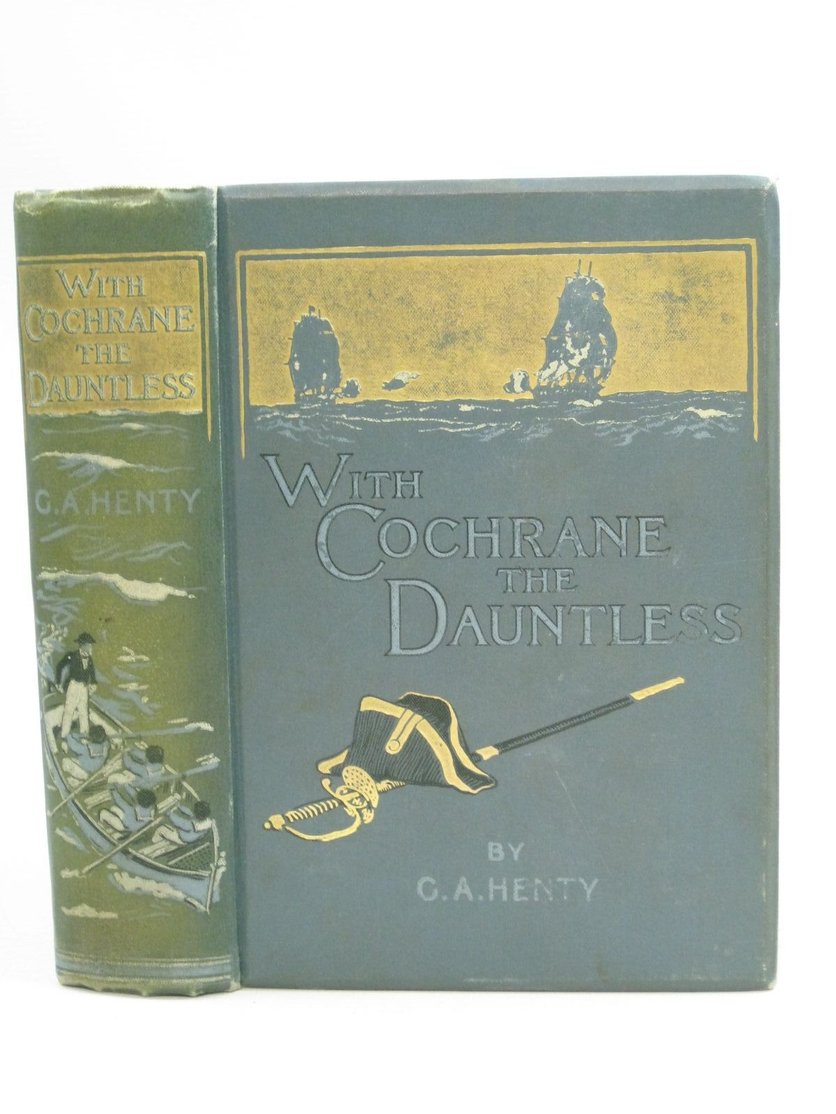 Photo of WITH COCHRANE THE DAUNTLESS written by Henty, G.A. illustrated by Margetson, W.H. published by Blackie & Son Ltd. (STOCK CODE: 1404930)  for sale by Stella & Rose's Books