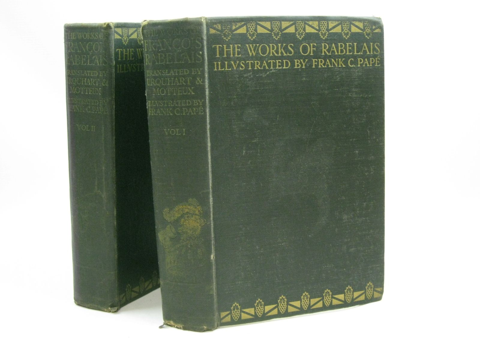 Photo of THE WORKS OF RABELAIS IN TWO VOLUMES written by Rabelais, Francois<br />Urquhart, Thomas<br />Motteux, Peter<br />et al, illustrated by Pape, Frank C. published by John Lane The Bodley Head (STOCK CODE: 1404949)  for sale by Stella & Rose's Books