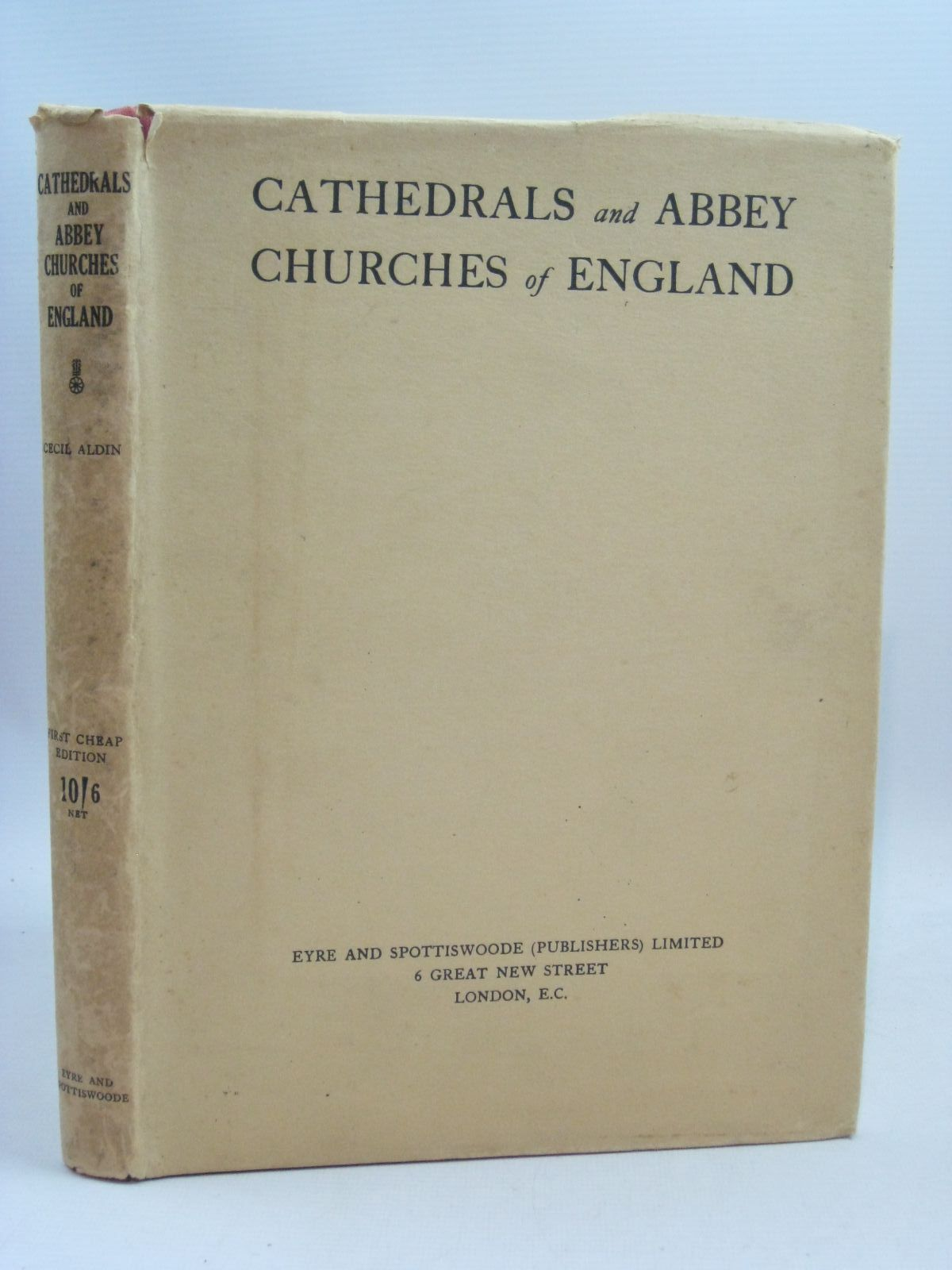 Photo of CATHEDRALS AND ABBEY CHURCHES OF ENGLAND illustrated by Aldin, Cecil published by Eyre & Spottiswoode (STOCK CODE: 1405142)  for sale by Stella & Rose's Books