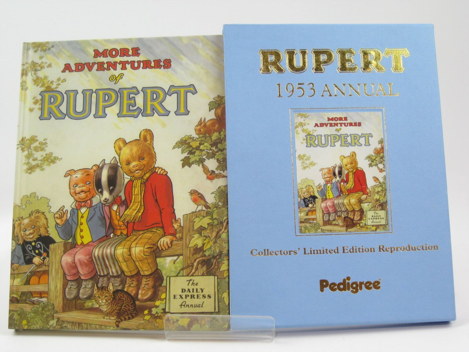 Photo of RUPERT ANNUAL 1953 (FACSIMILE) - MORE ADVENTURES OF RUPERT written by Bestall, Alfred illustrated by Bestall, Alfred published by Pedigree Books Limited (STOCK CODE: 1406223)  for sale by Stella & Rose's Books