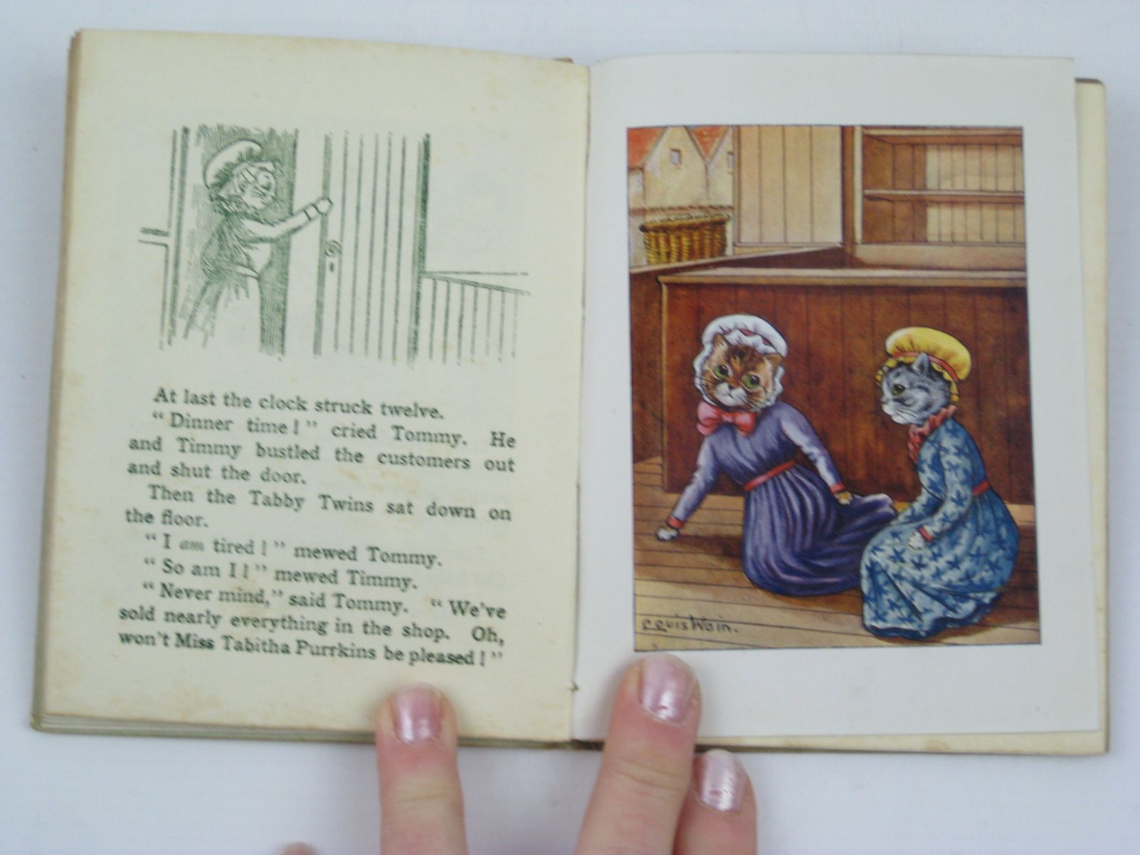 Photo of THE TALE OF THE TABBY TWINS written by Rutley, Cecily M. illustrated by Wain, Louis published by Valentine & Sons Ltd. (STOCK CODE: 1406448)  for sale by Stella & Rose's Books