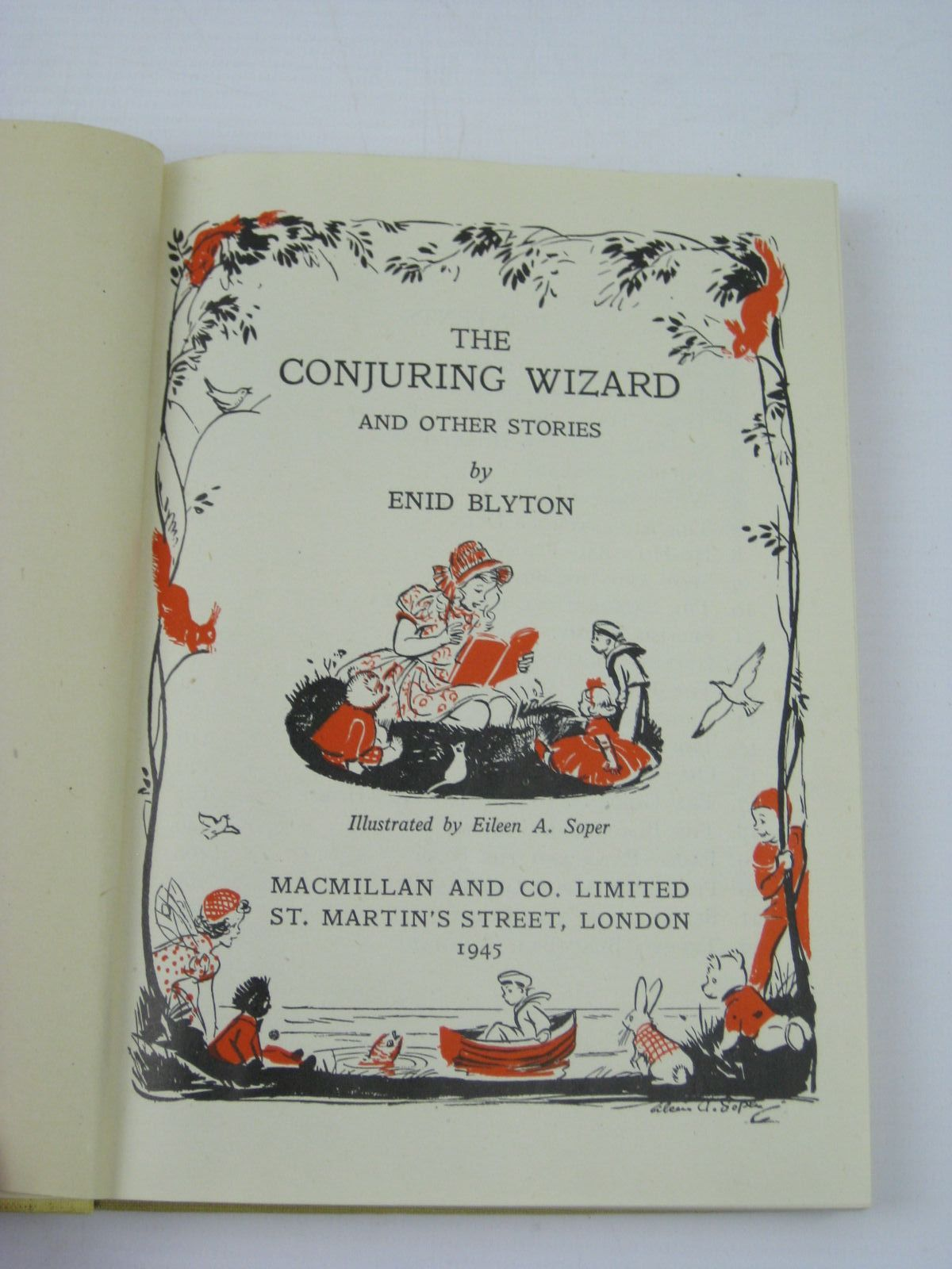 Photo of THE CONJURING WIZARD AND OTHER STORIES written by Blyton, Enid illustrated by Soper, Eileen published by Macmillan & Co. Ltd. (STOCK CODE: 1406484)  for sale by Stella & Rose's Books