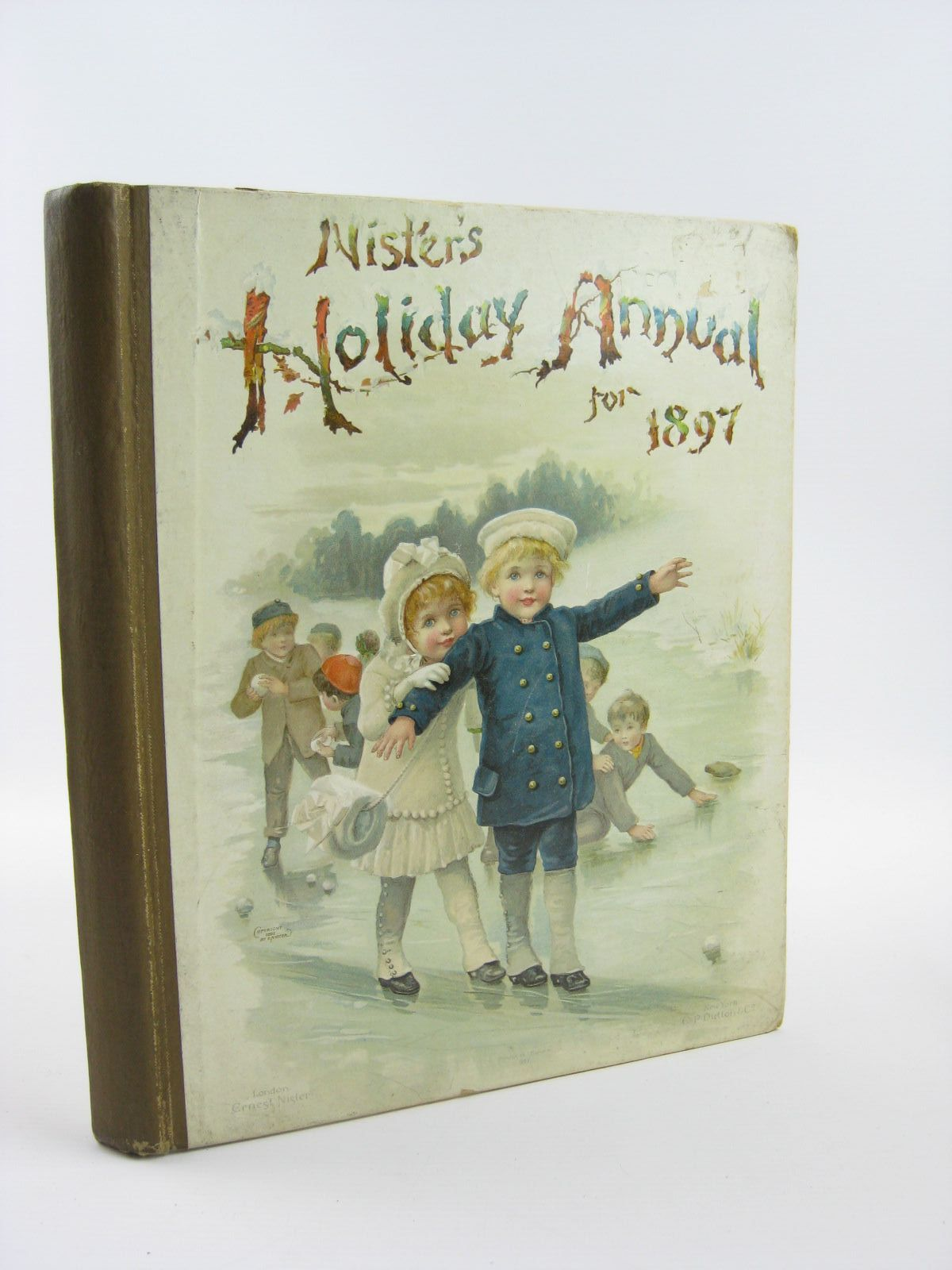 Photo of NISTER'S HOLIDAY ANNUAL FOR 1897 written by Fuller, Alfred J.<br />Mack, Robert Ellis<br />Weedon, L.L.<br />Bingham, Clifton<br />Nesbit, E.<br />et al,  illustrated by Wain, Louis<br />Foster, W.<br />et al.,  published by Ernest Nister (STOCK CODE: 1501405)  for sale by Stella & Rose's Books