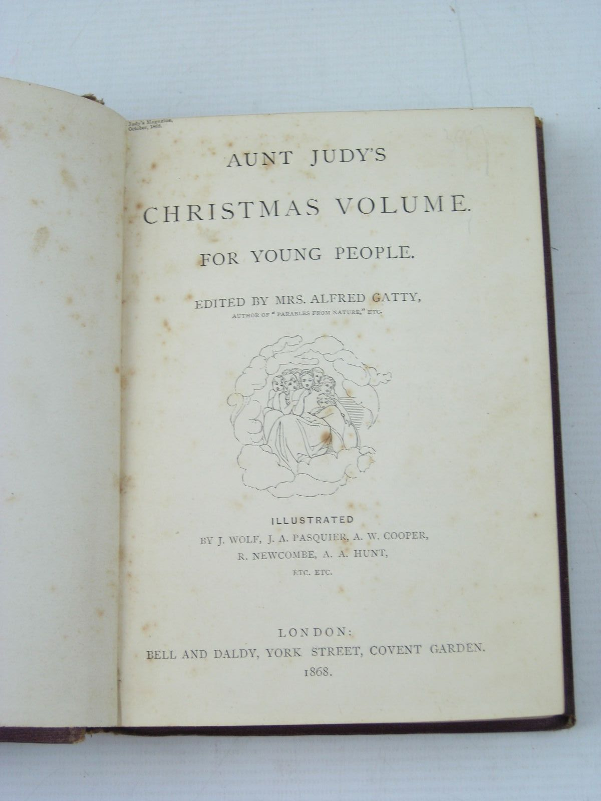 Photo of AUNT JUDY'S CHRISTMAS VOLUME FOR 1868 written by Gatty, Alfred