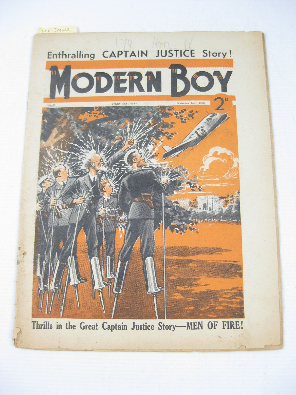 Photo of MODERN BOY No. 32 SEPTEMBER 24TH 1938 written by Johns, W.E. Roberts, Murray Rochester, George E. et al, published by The Amalgamated Press (STOCK CODE: 1503752)  for sale by Stella & Rose's Books